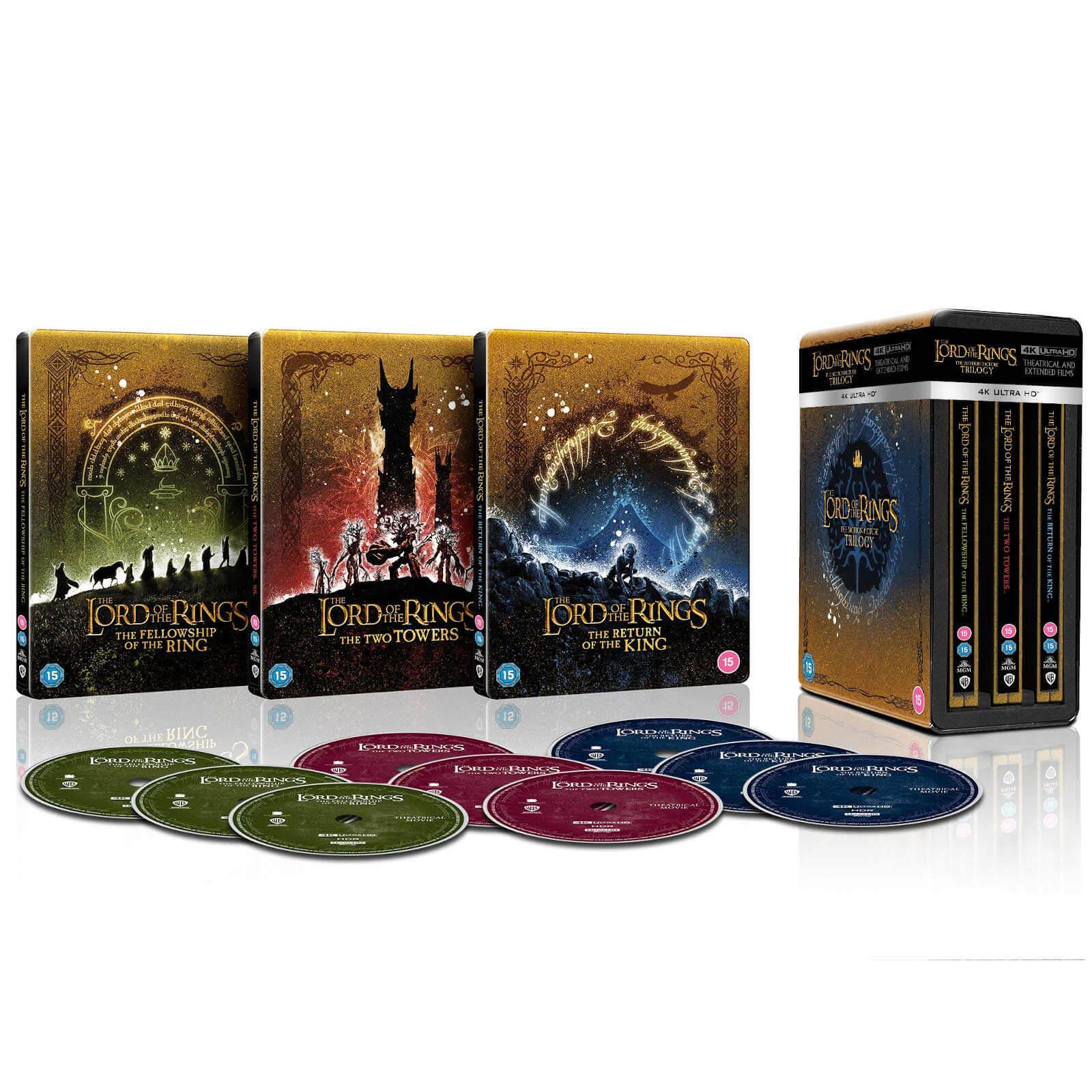 Trilogia Il Signore degli Anelli - Collezione Steelbook 4K Ultra HD Edizione Limitata