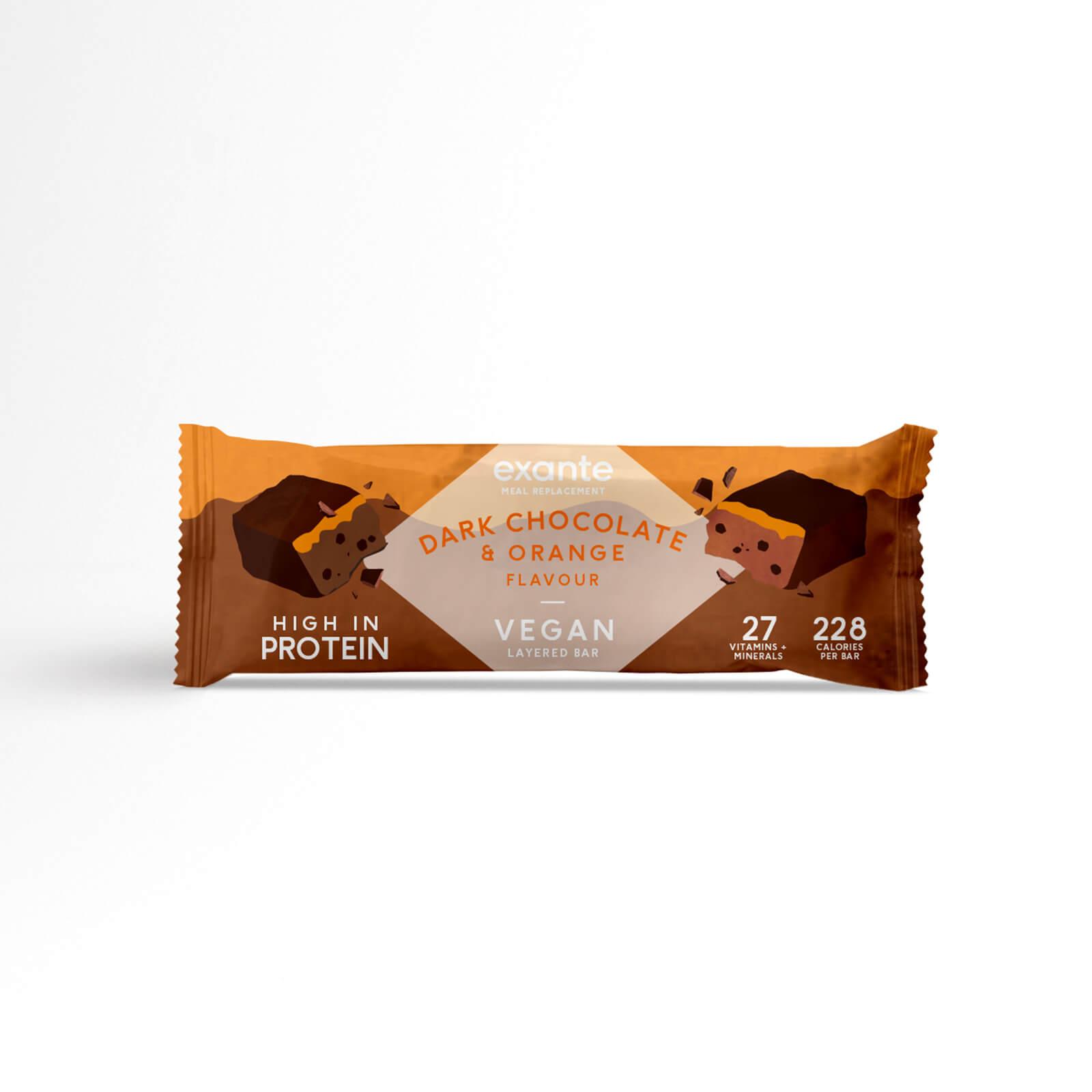 Veganer Zartbitterschokolade- und Orange Riegel