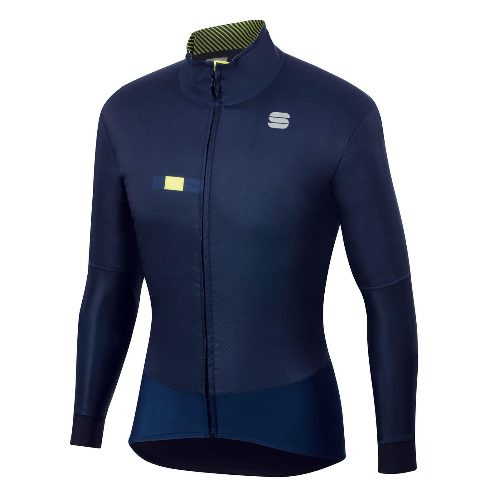 Sportful Bodyfit Pro Jacket - XL - Blue/Yellow Fluo