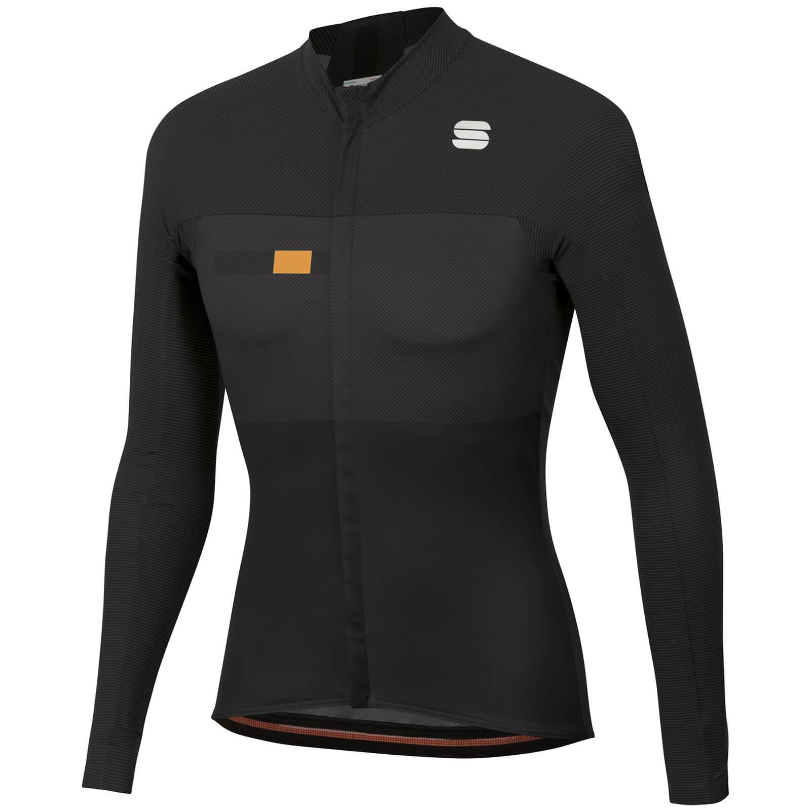 Sportful Bodyfit Pro Thermal Jersey - XL - Black/Gold