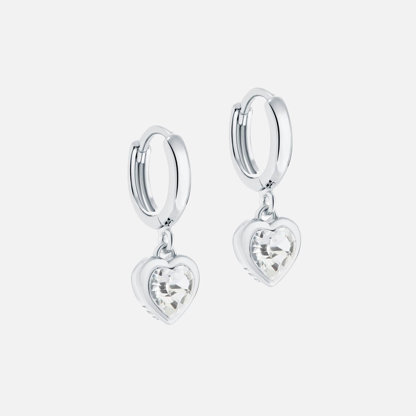 Ted Baker Women's Hanniy: Crystal Heart Earrings - Silver/Crystal
