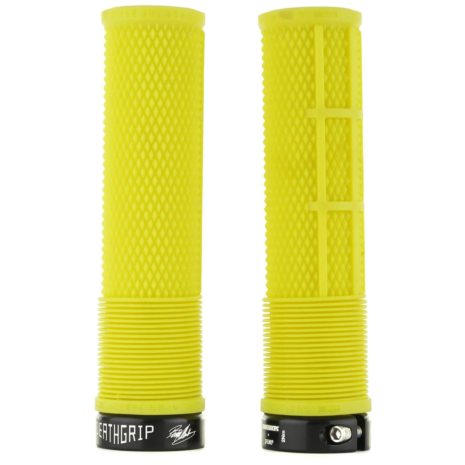 DMR Deathgrip Flangeless Handlebar Grip - Thick - 31.3mm - Gul Yellow