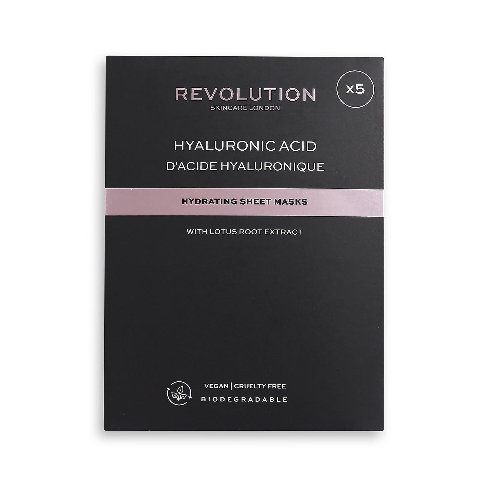 Купить Revolution Skincare Biodegradable Hydrating Hyaluronic Acid Sheet Mask