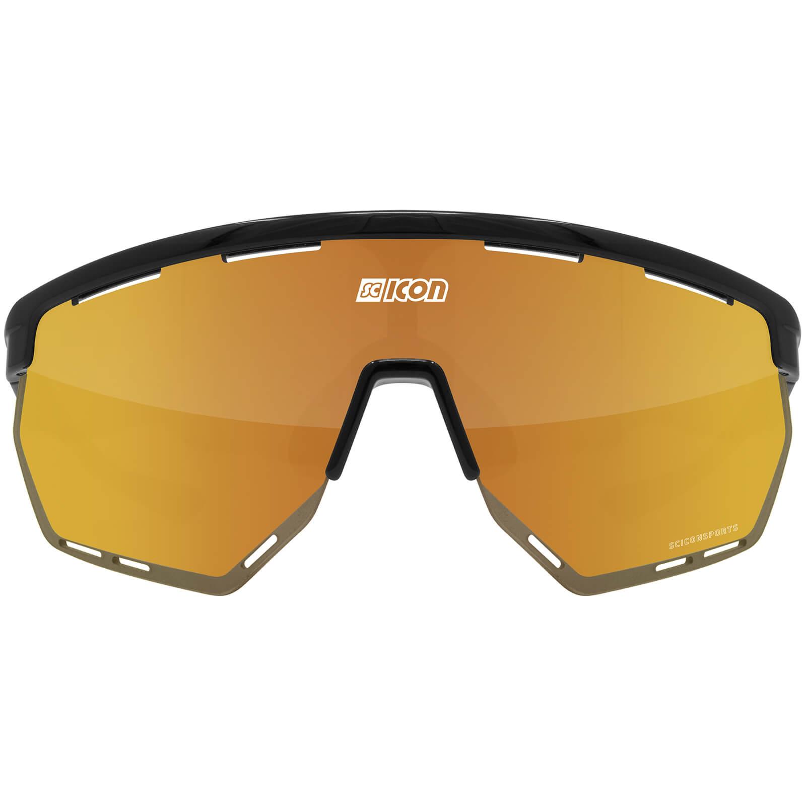 Scicon Aerowing Road Sunglasses - Black Gloss - Multimirror Bronze