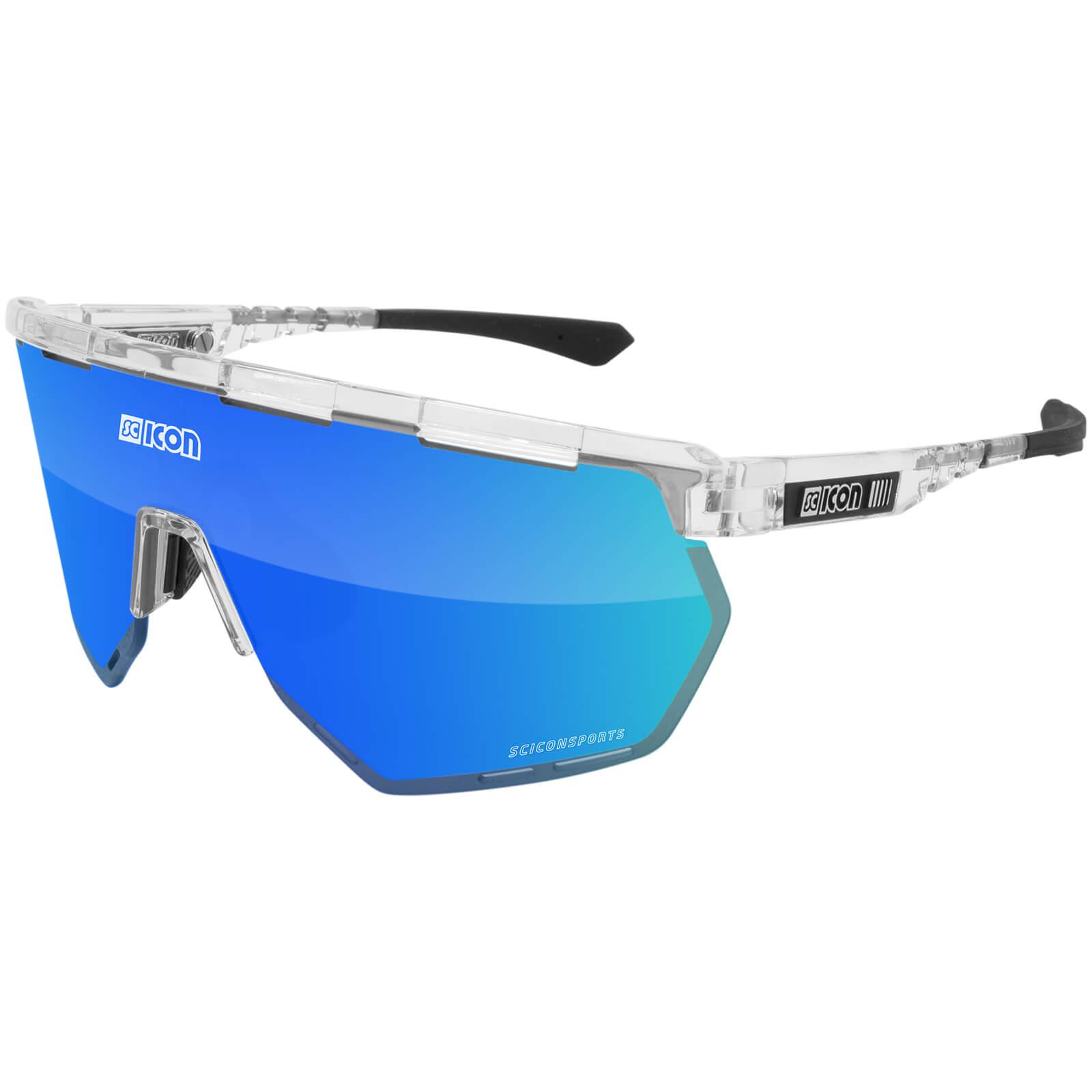 Scicon Aerowing Road Sunglasses - Crystal Gloss/SCNPP Multimirror Blue