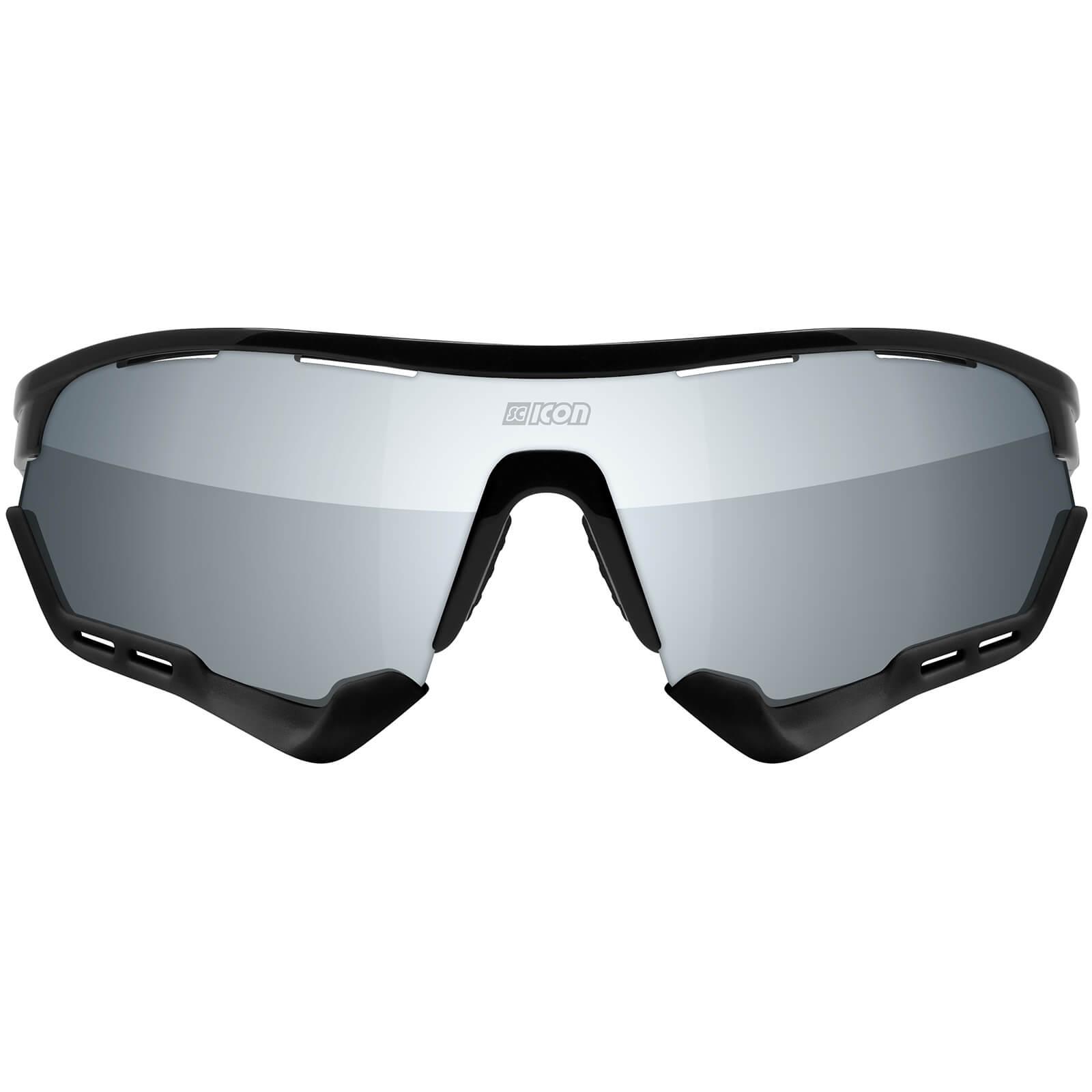 Scicon Aerotech Xl Road Sunglasses - Black Gloss - Multilaser Silver