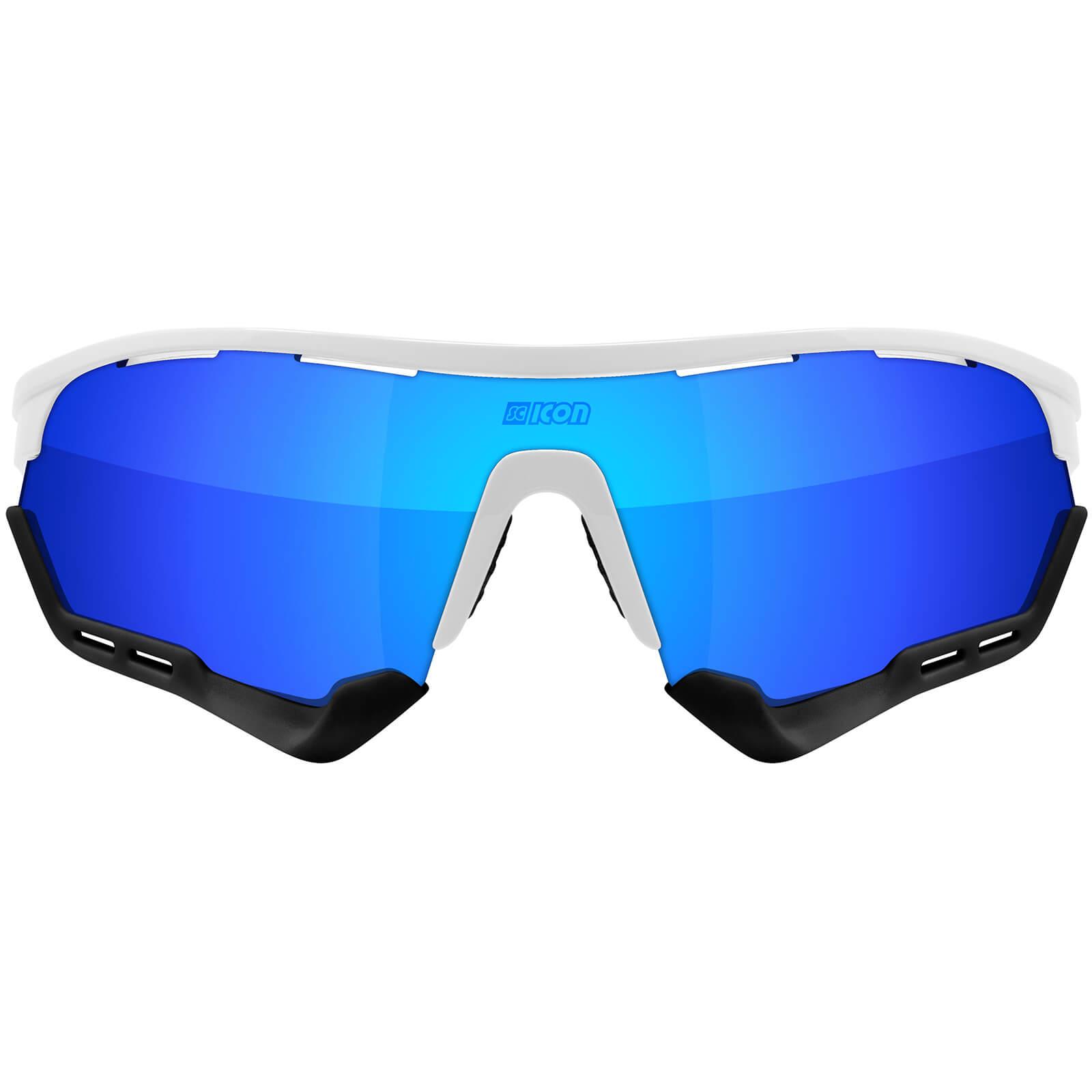 Scicon Aerotech Xl Road Sunglasses - White Gloss - Multilaser Blue