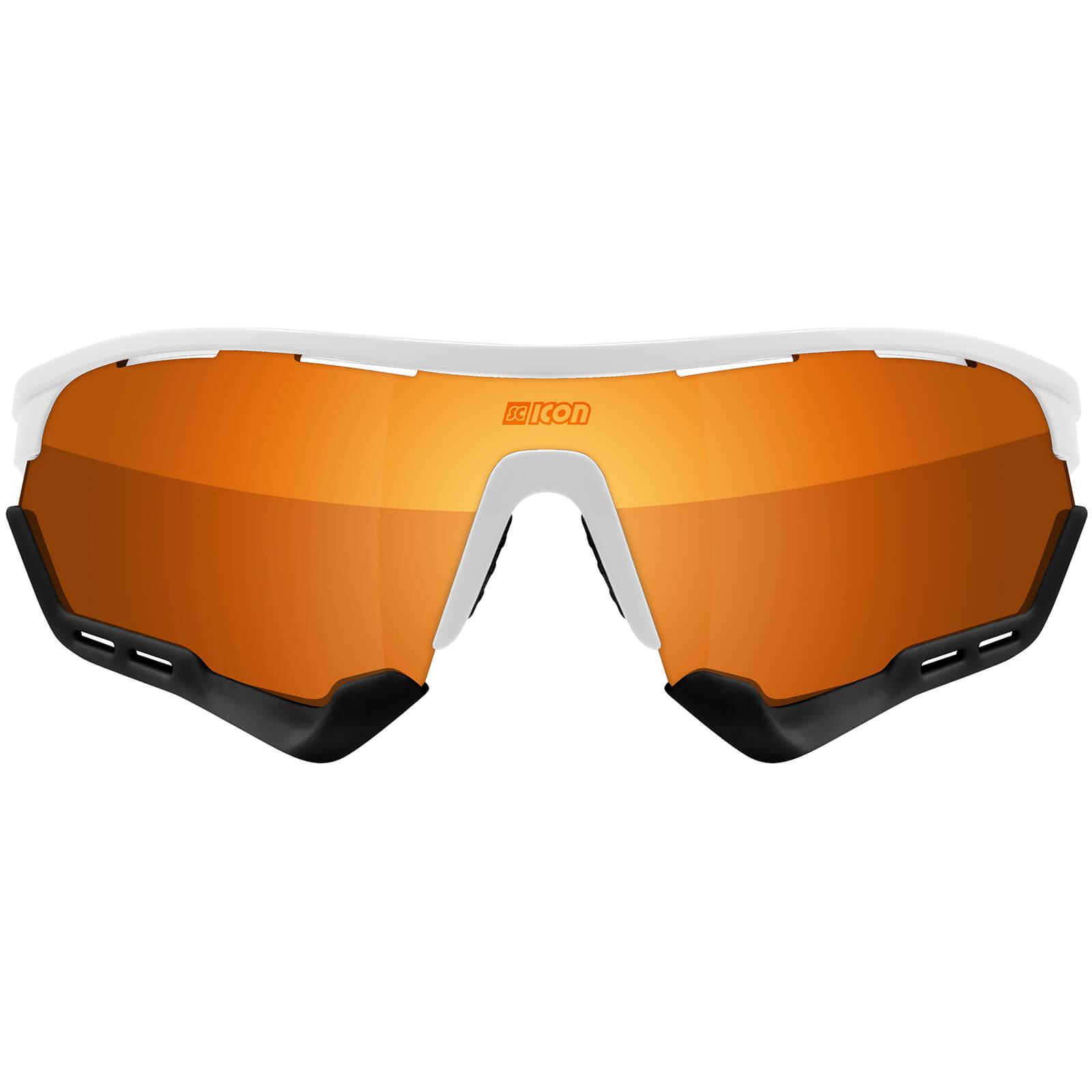 Scicon Aerotech XL Road Sunglasses - White Gloss - Multilaser Bronze