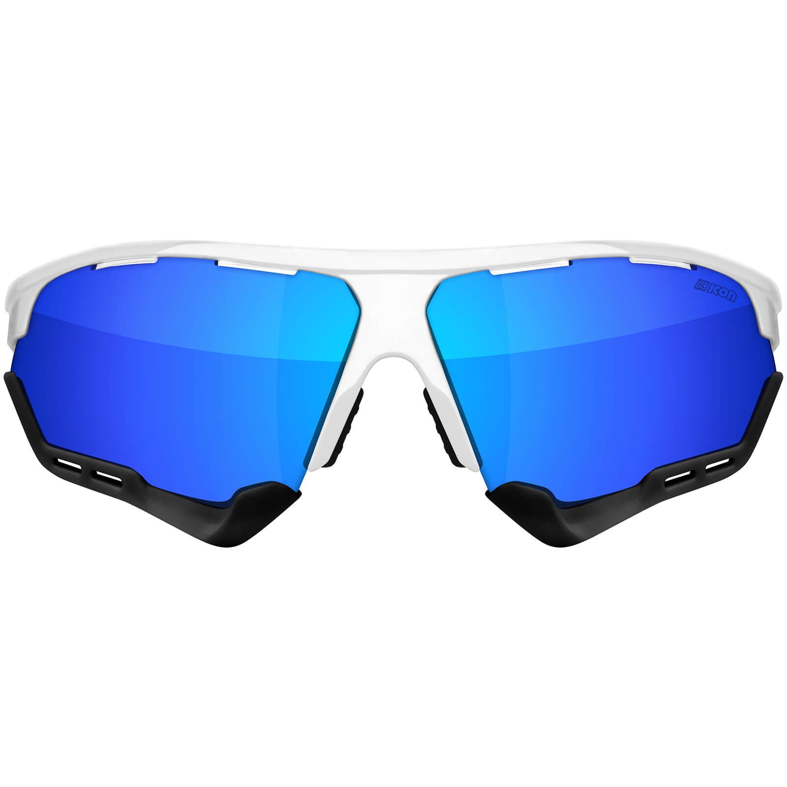 Scicon Aerocomfort XL Road Sunglasses - White Gloss - Multilaser Blue