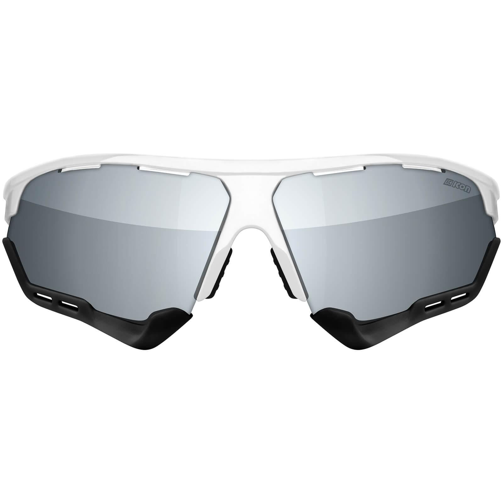 Scicon Aerocomfort Xl Road Sunglasses - White Gloss - Multilaser Silver