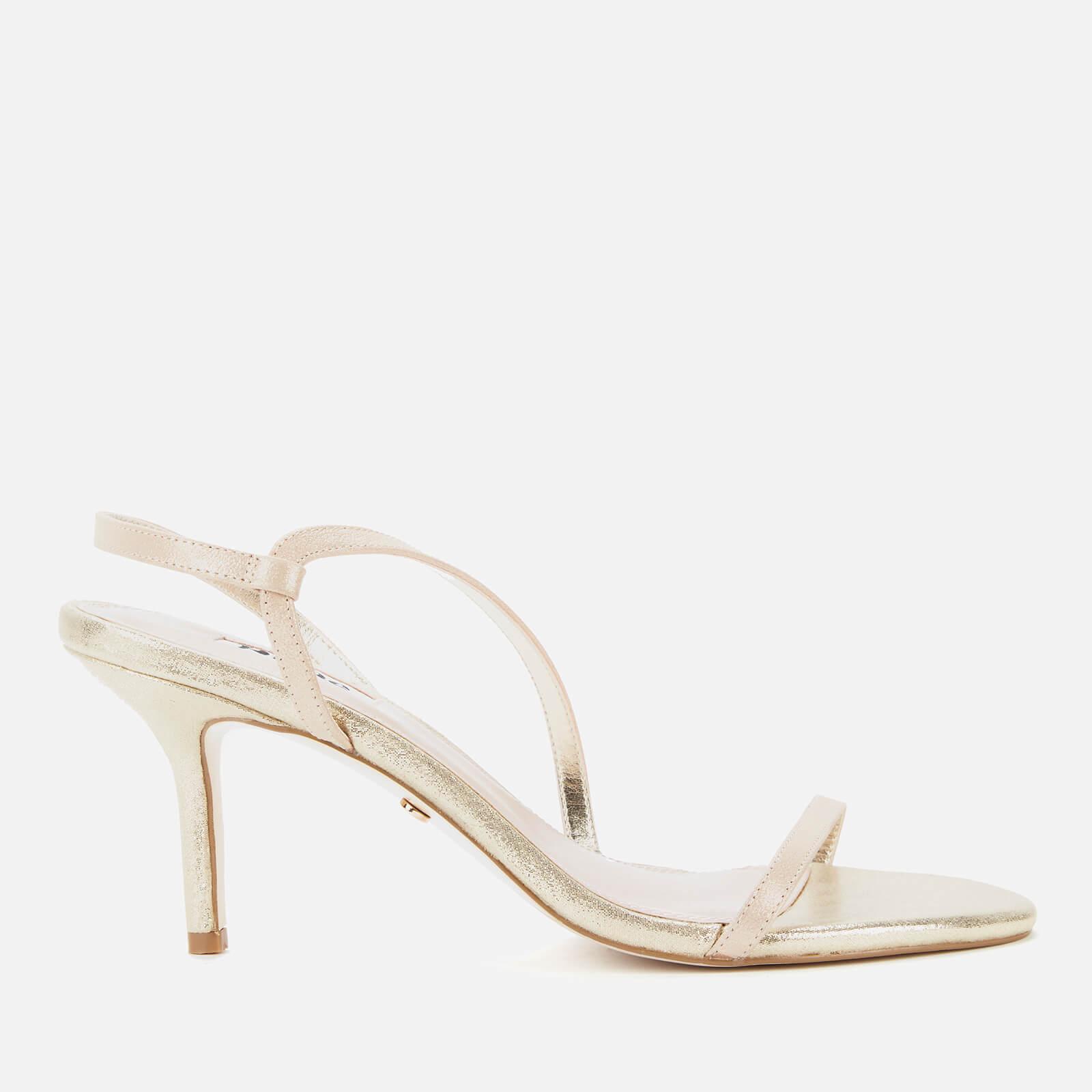 Dune Women's Mojos Leather Strappy Heels - Gold - EU 36/UK 3