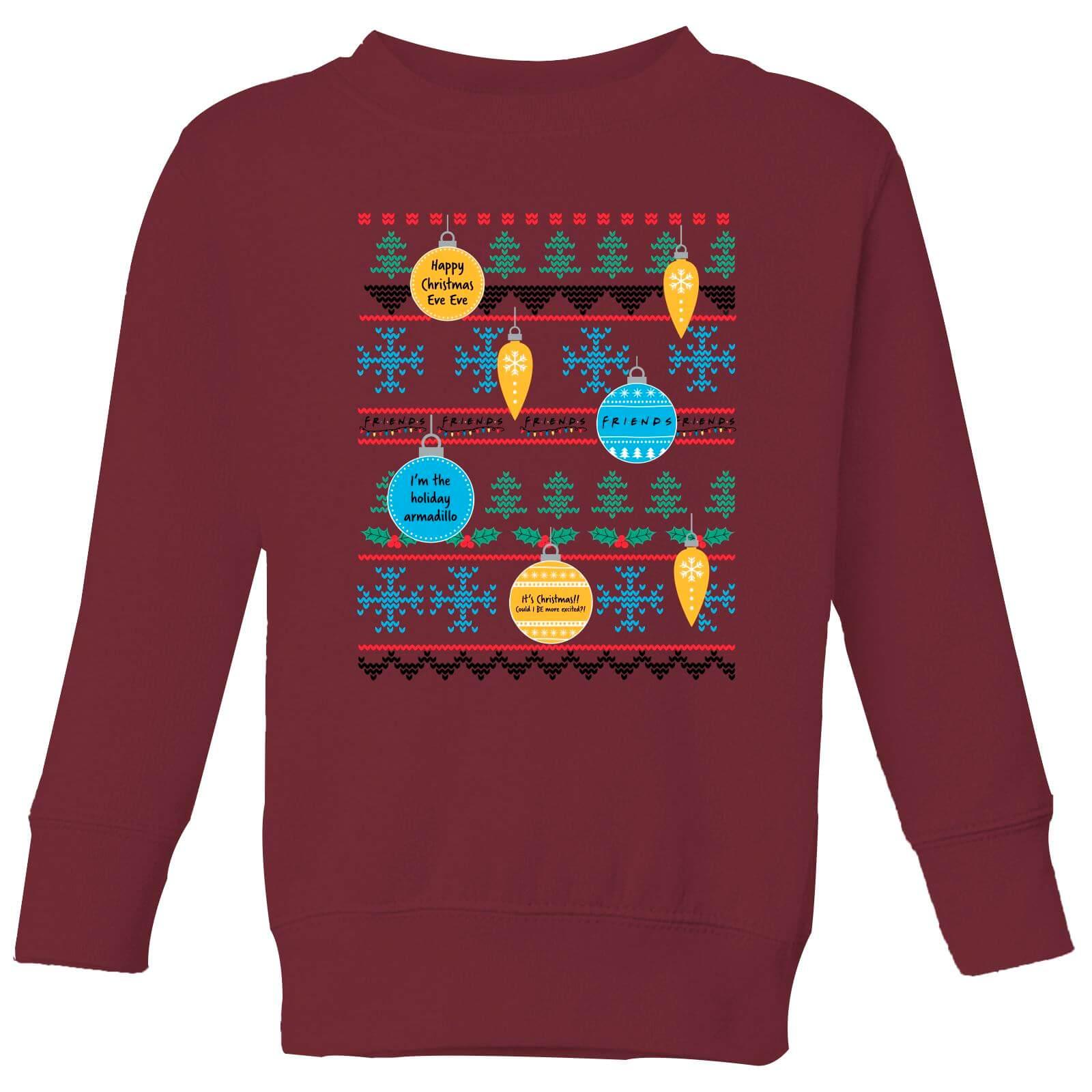 Friends Baubles Kids' Sweatshirt - Burgundy - 3-4 Jahre - Burgundy