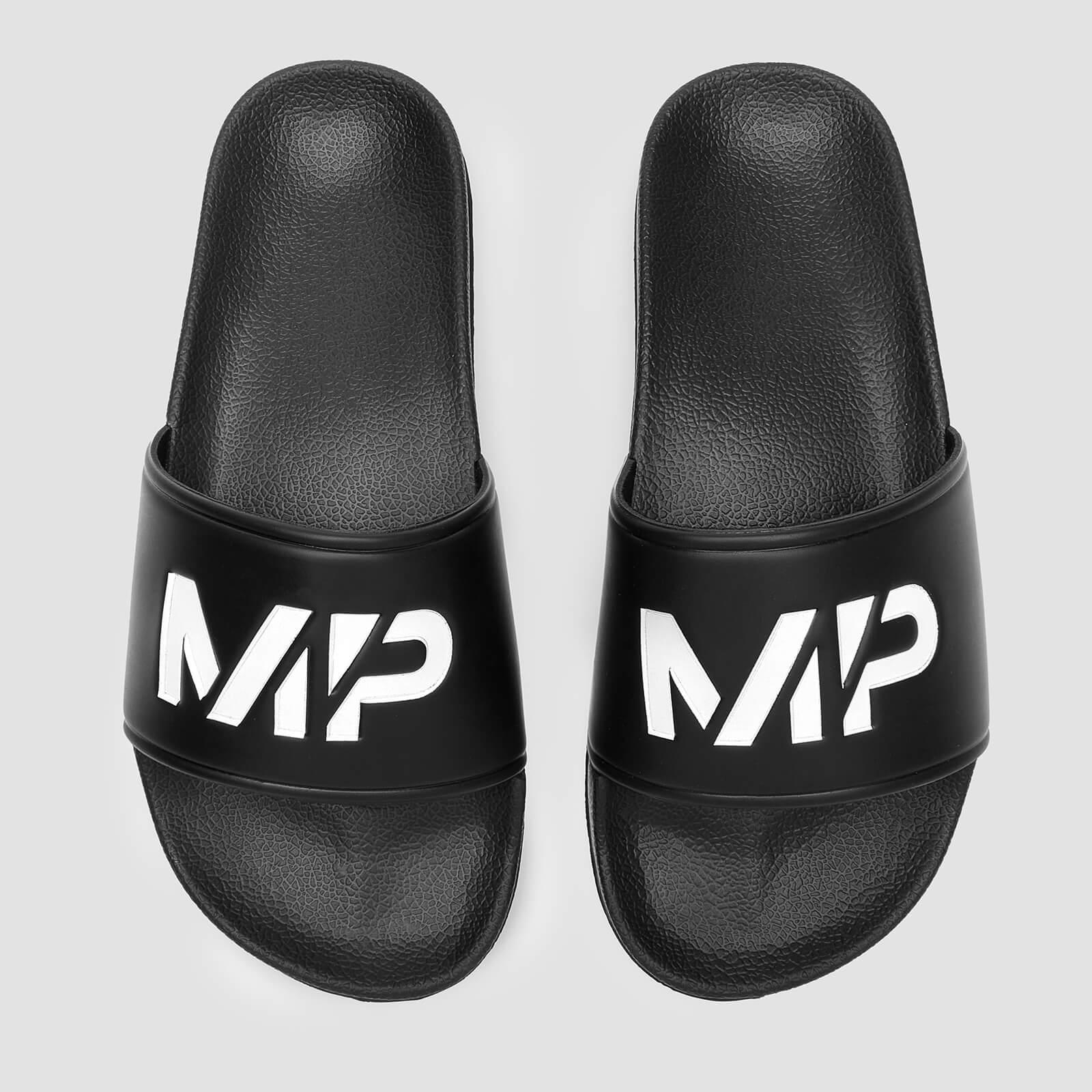 MP Mens Sliders - Black/White - UK 9