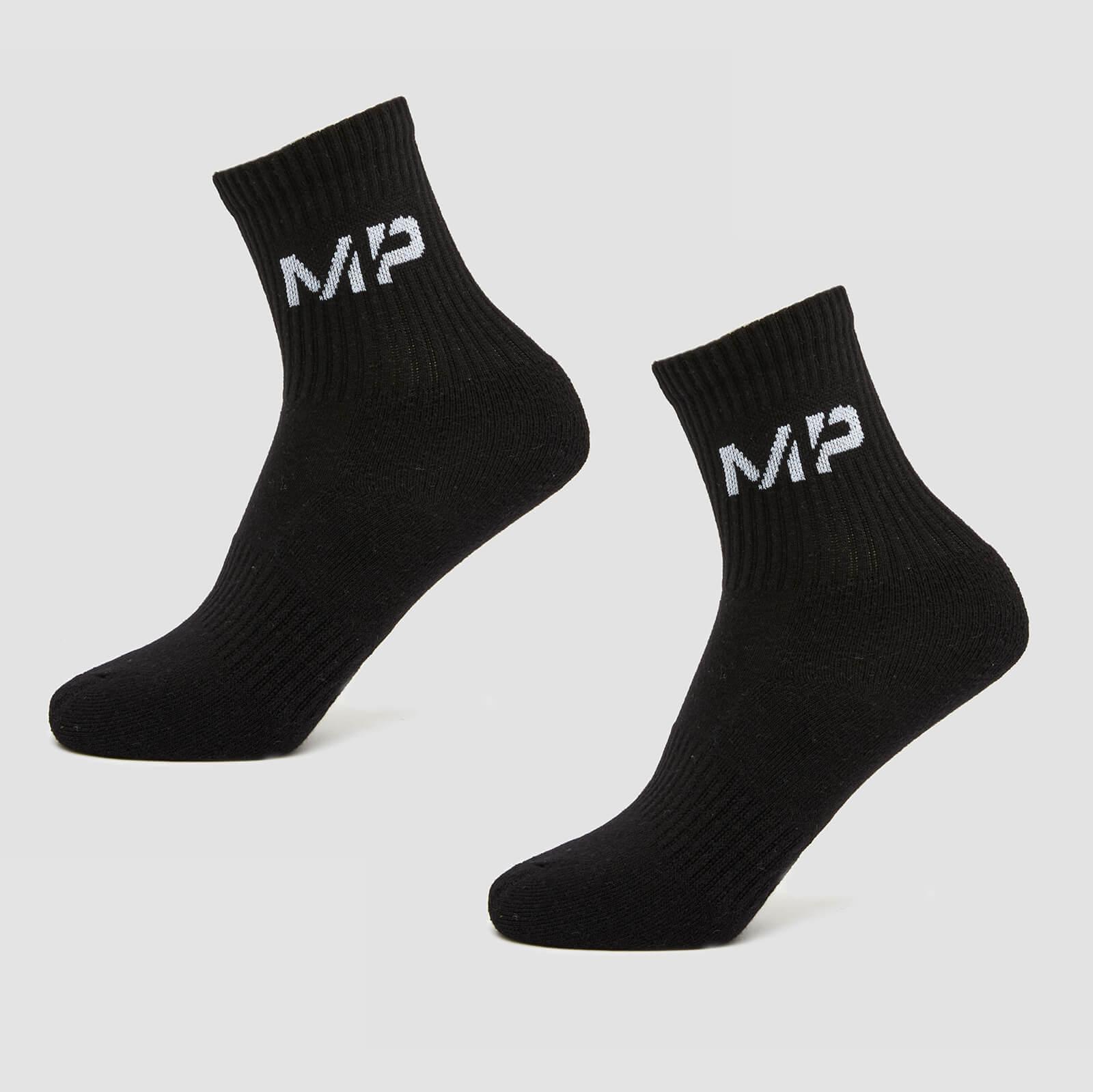 Купить MP Women's Core Crew Socks (2 Pack) Black - UK 3-6, Myprotein International