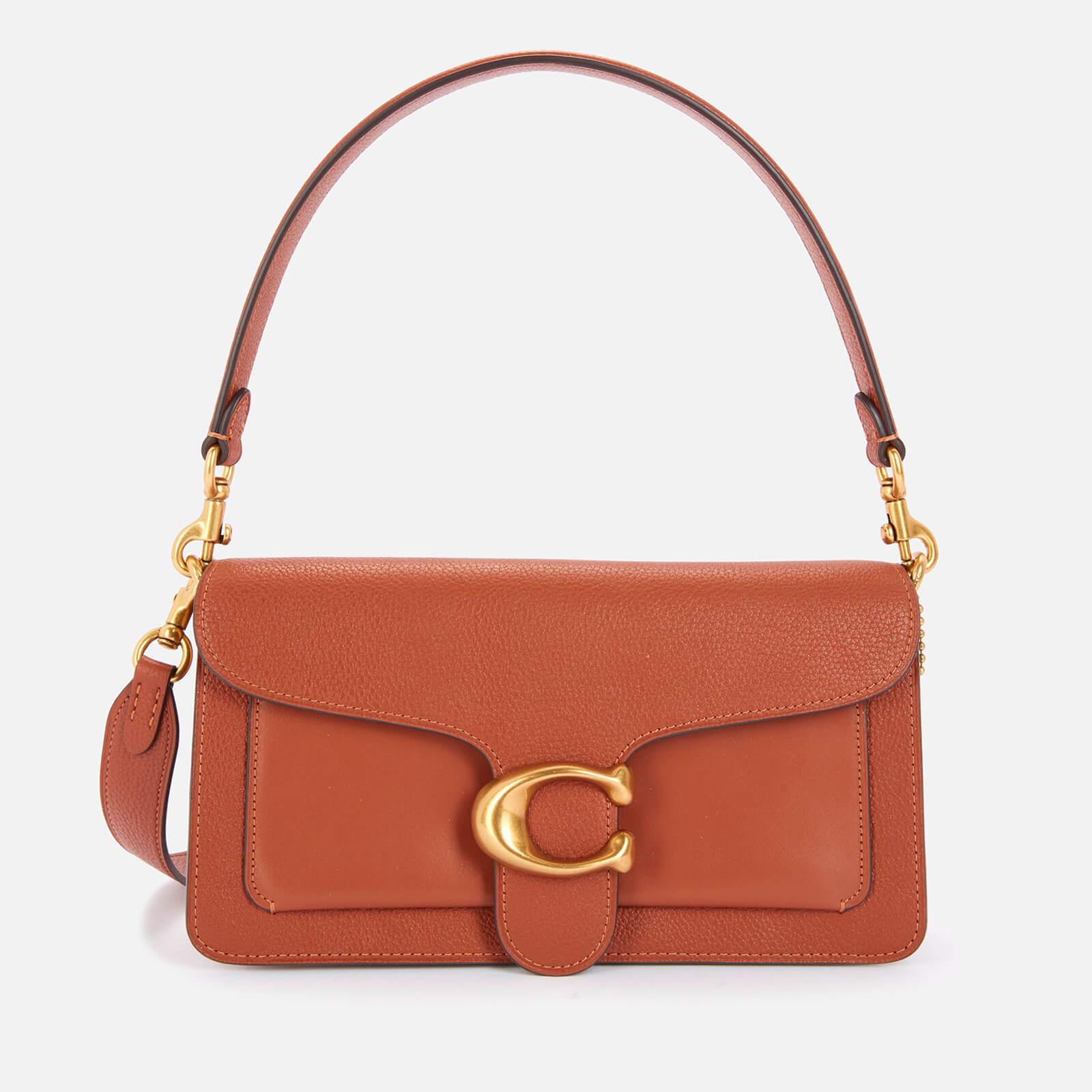 Coach Women's Mixed Leather Tabby Shoulder Bag 26 - Saddle
