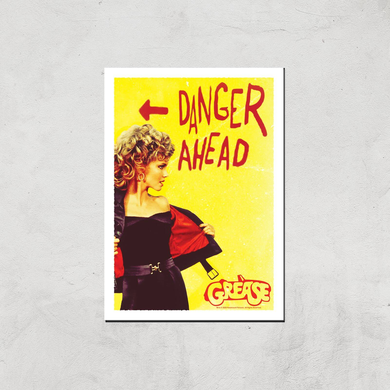 Grease Danger Road Giclee Art Print - A4 - Print Only