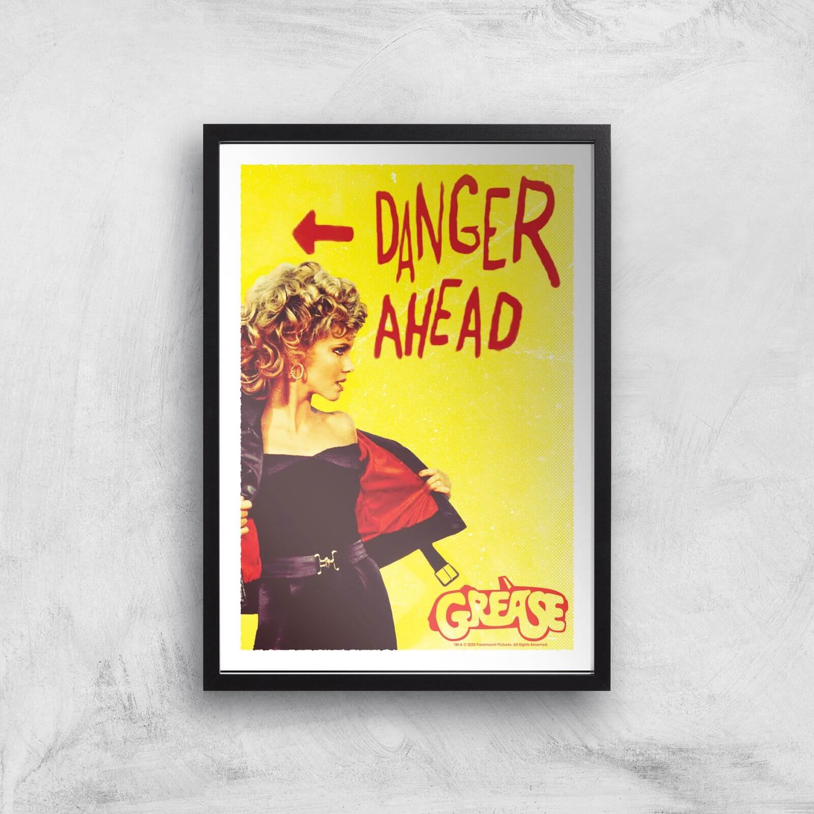 Grease Danger Road Giclee Art Print - A2 - Black Frame