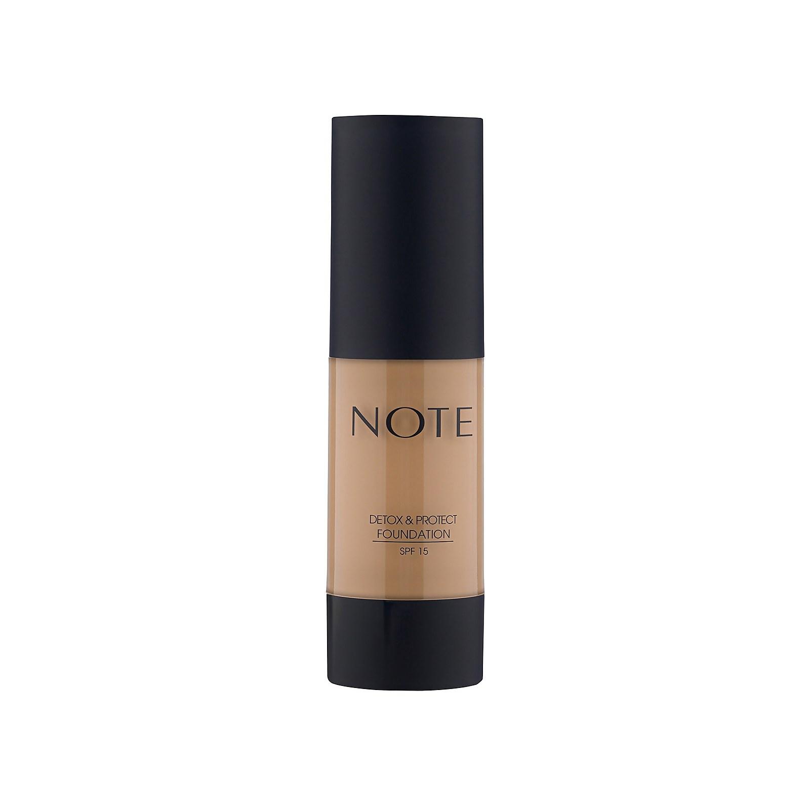 Купить Тональный крем Note Cosmetics Detox and Protect Foundation 35мл (разные оттенки) - 06 Dark Honey