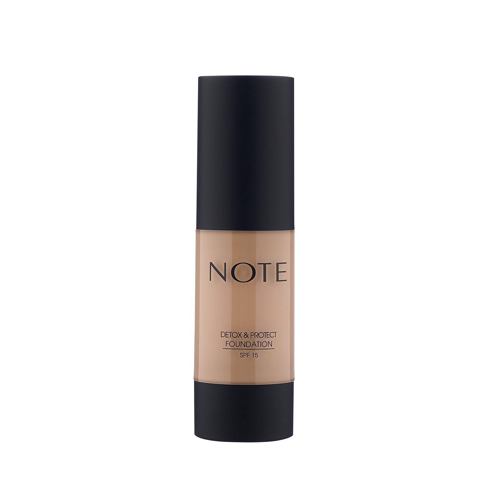 Купить Тональный крем Note Cosmetics Detox and Protect Foundation 35мл (разные оттенки) - 116 Golden Beige