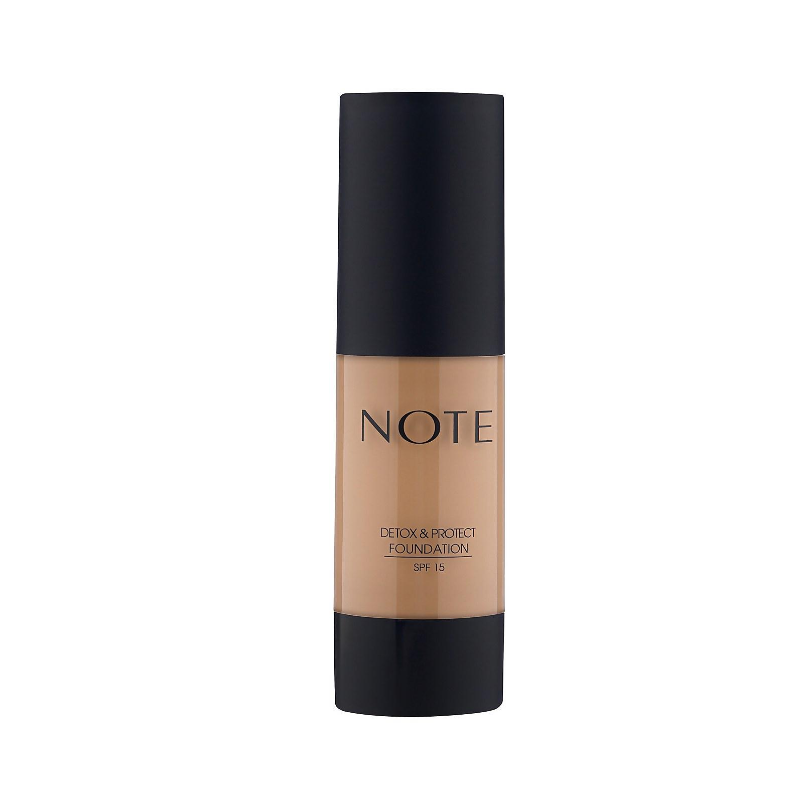 Купить Тональный крем Note Cosmetics Detox and Protect Foundation 35мл (разные оттенки) - 120 Soft Sand