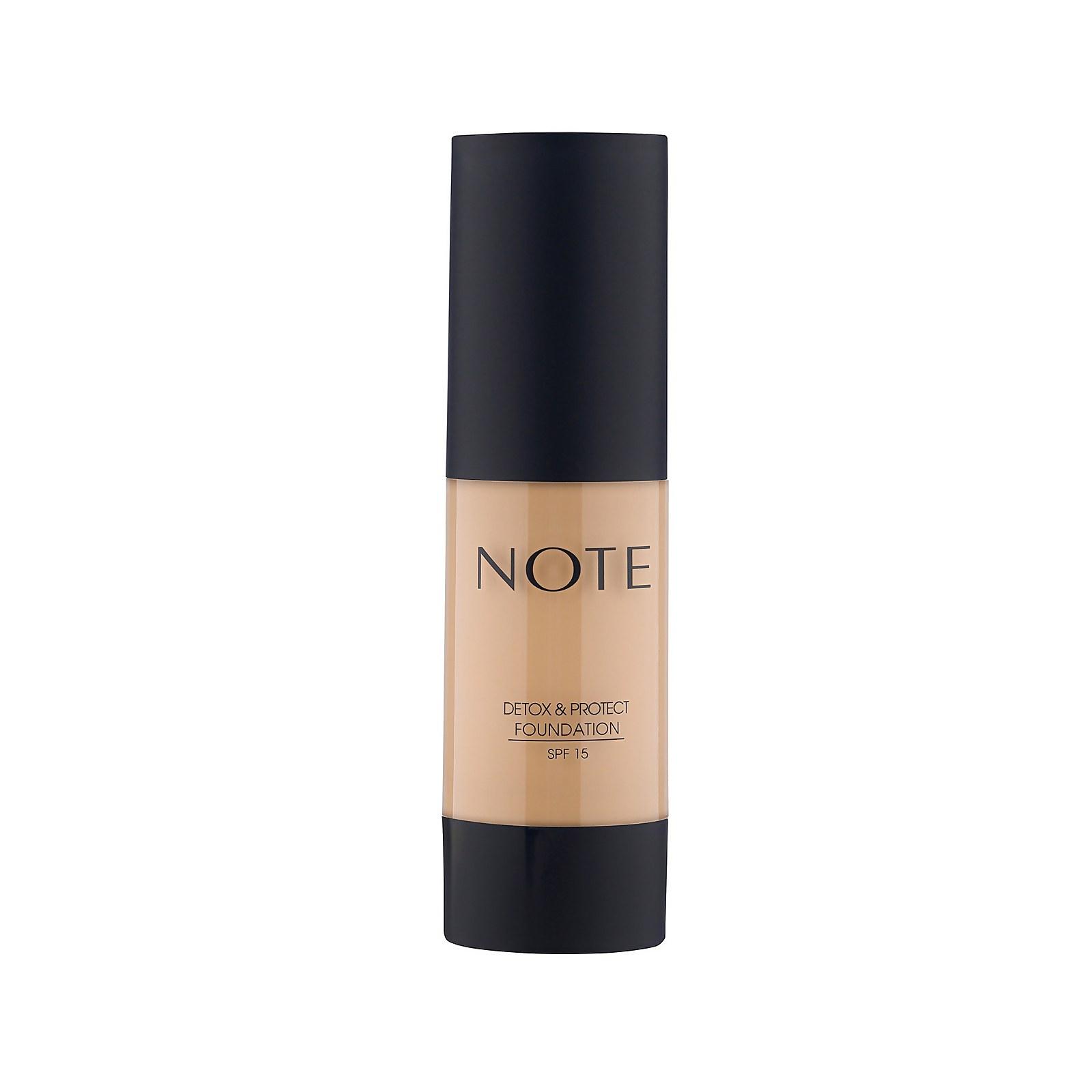 Купить Тональный крем Note Cosmetics Detox and Protect Foundation 35мл (разные оттенки) - 121 Porcelain