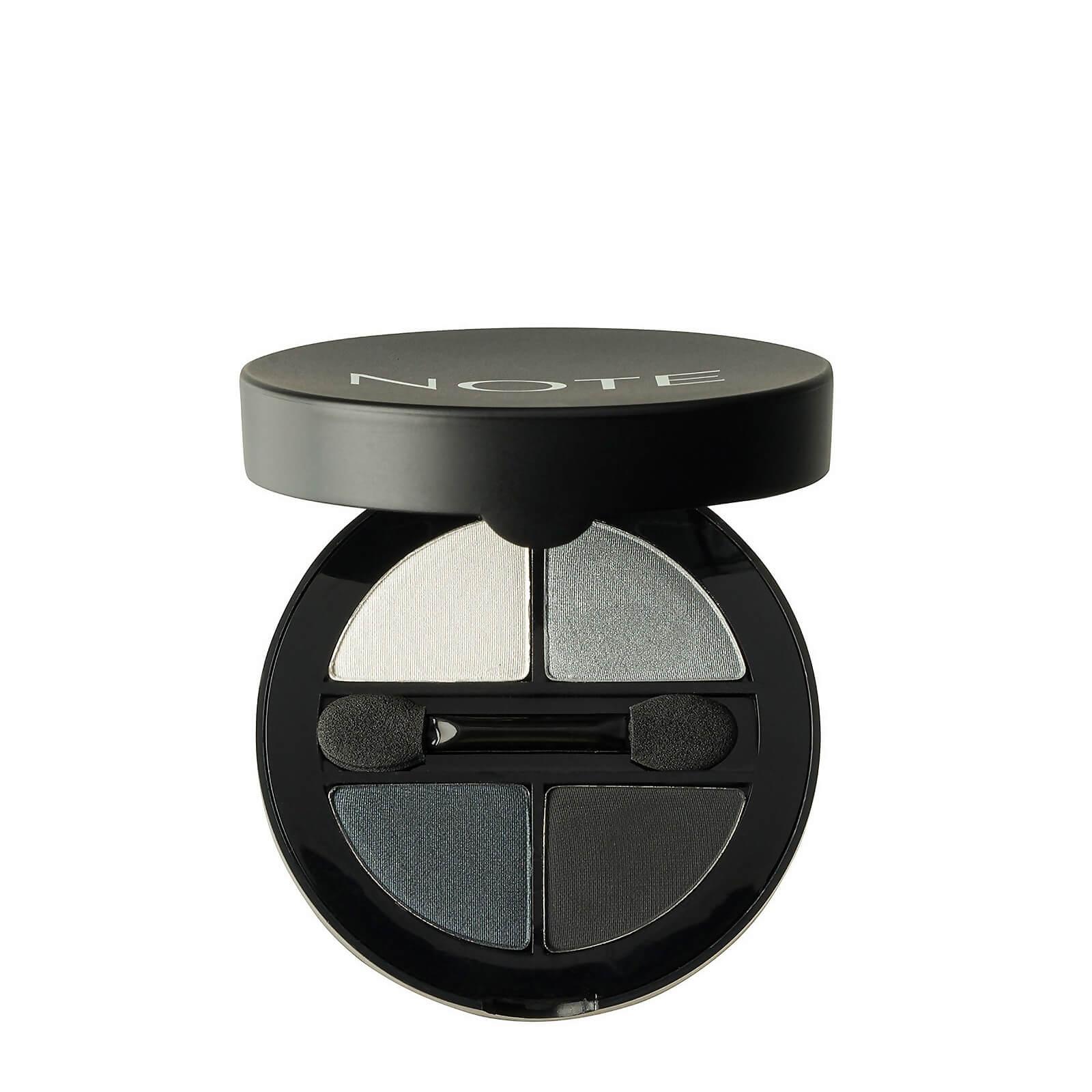 Купить Тени для глаз - Note Cosmetics Luminous Silk Quattro Eye Shadow - SQE-3