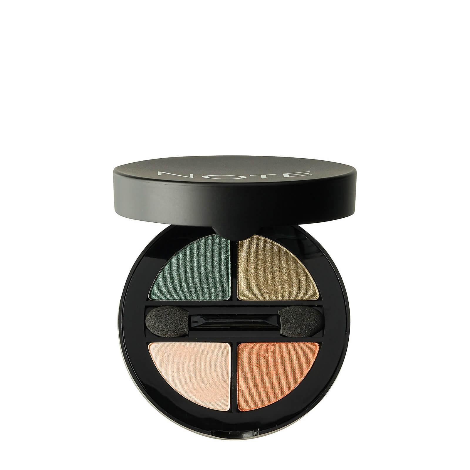 Купить Тени для глаз - Note Cosmetics Luminous Silk Quattro Eye Shadow - SQE-5