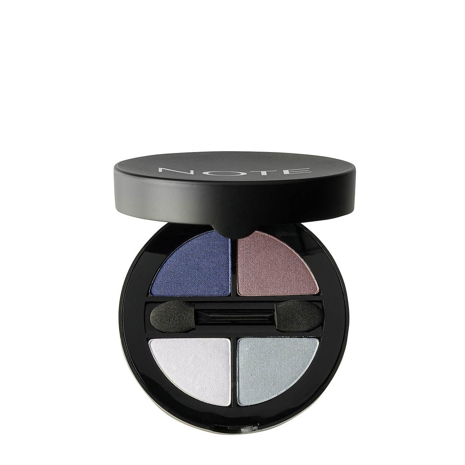 Купить Тени для глаз - Note Cosmetics Luminous Silk Quattro Eye Shadow - SQE-6