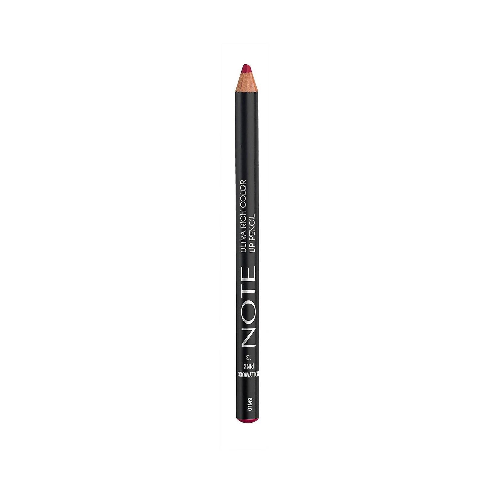 Купить Note Cosmetics Ultra Rich Color Lip Pencil 1.1g (Various Shades) - 13 Hollywood Pink