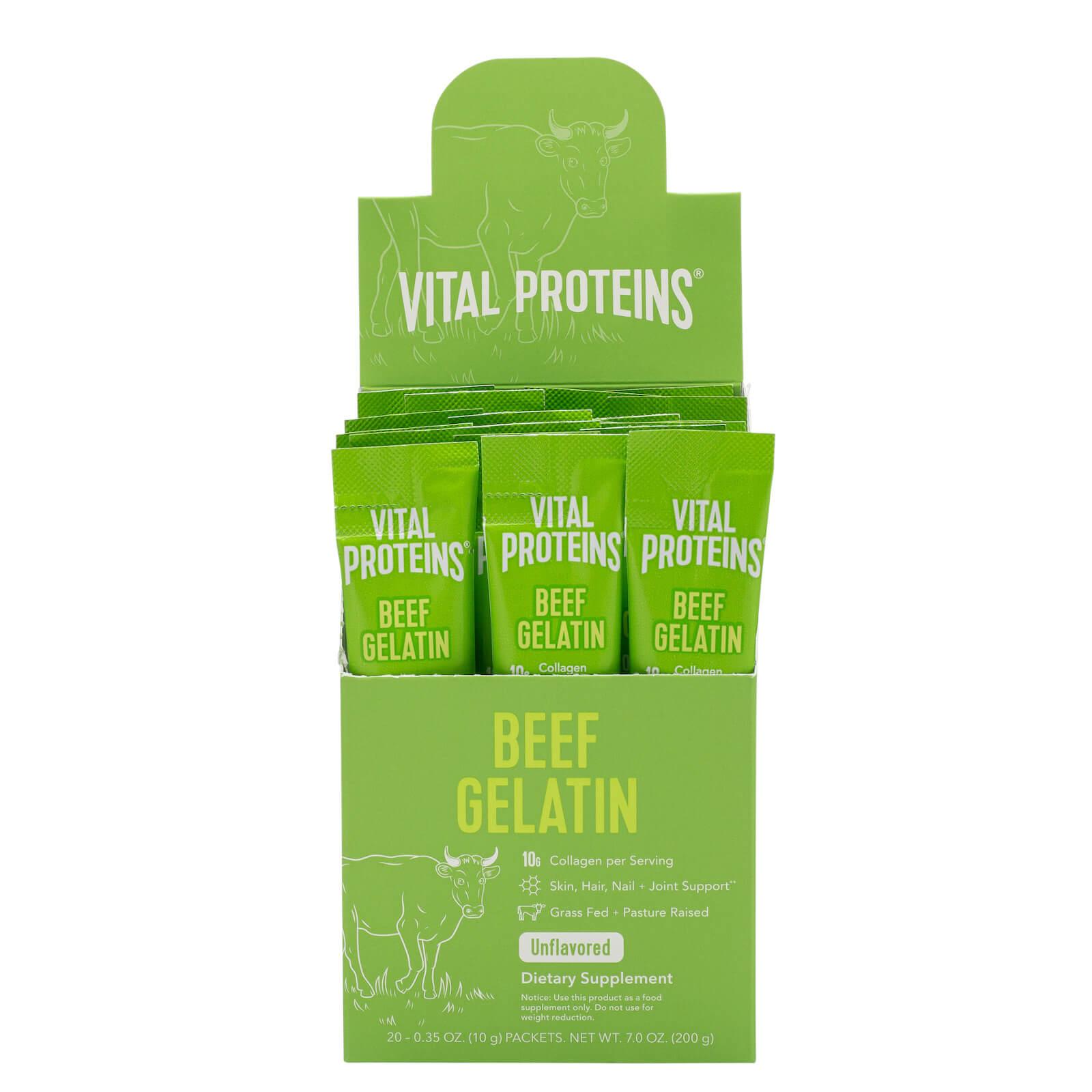 Beef Gelatin Sachets (Bovine Gelatin) - Unflavoured 200g