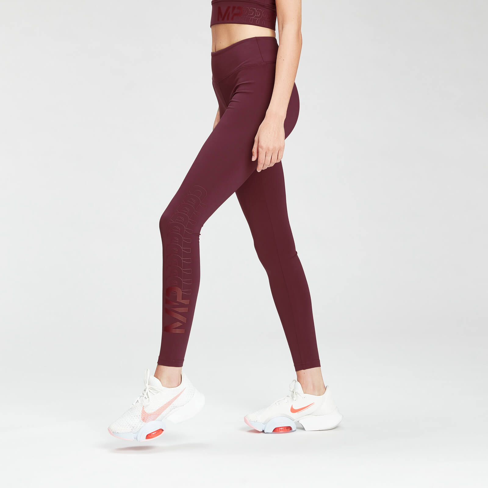 MP Women's Fade Graphic Training Leggings - Washed Oxblood - XXL