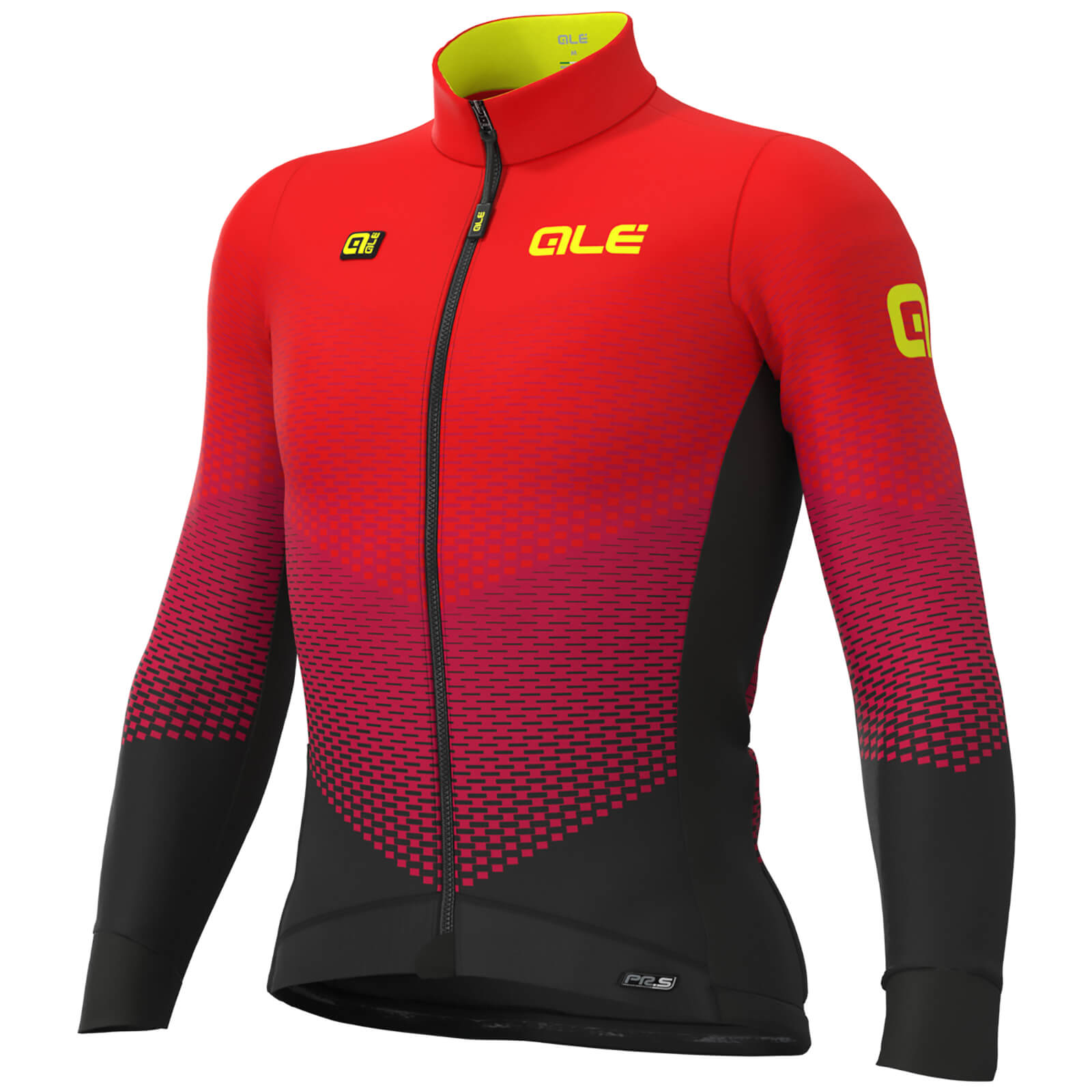 Alé Pr-S Delta Micro Long Sleeve Jersey - S - Black/Bordeaux/Red