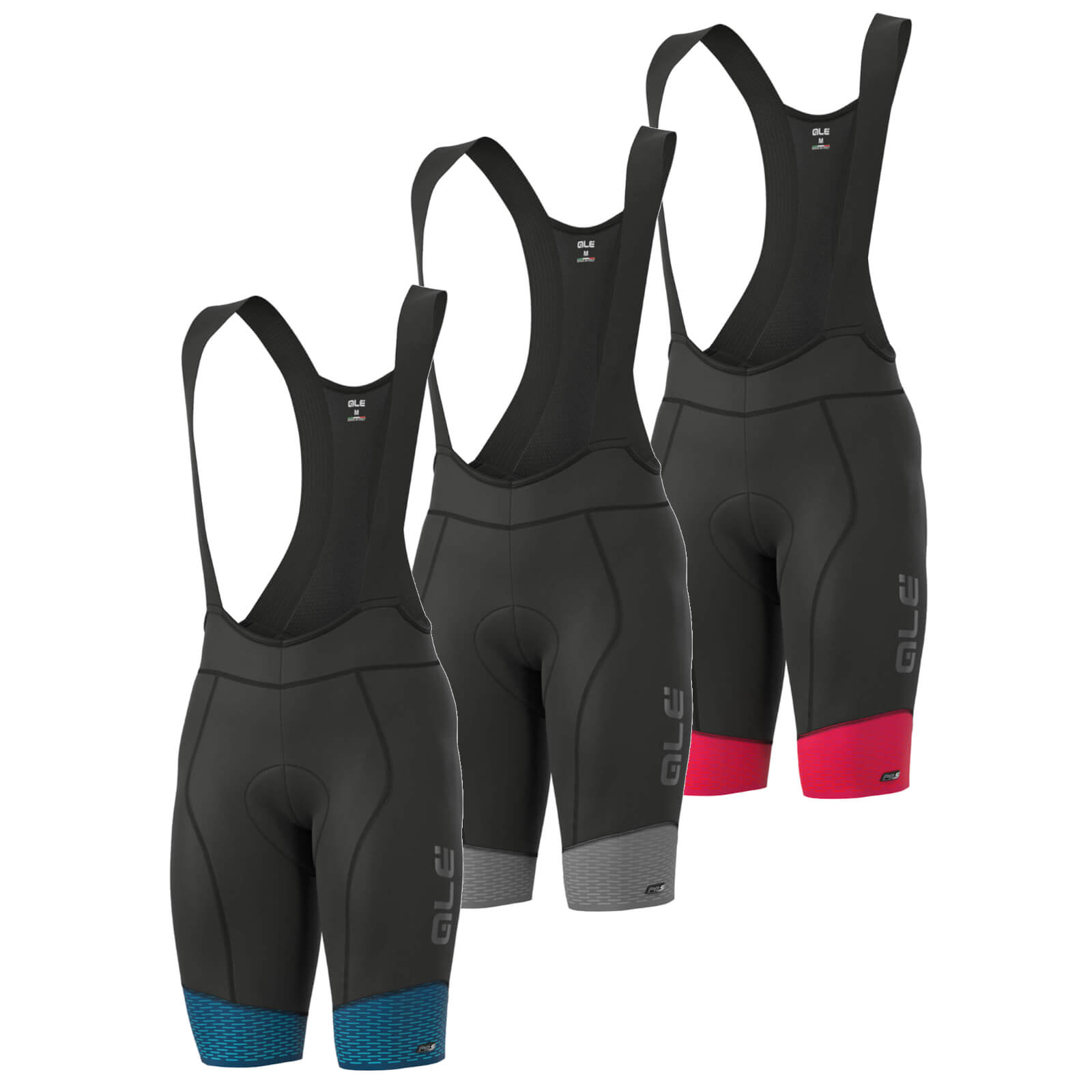 Alé Pr-S Delta Winter Wr Bibshorts - L - Black/Grey