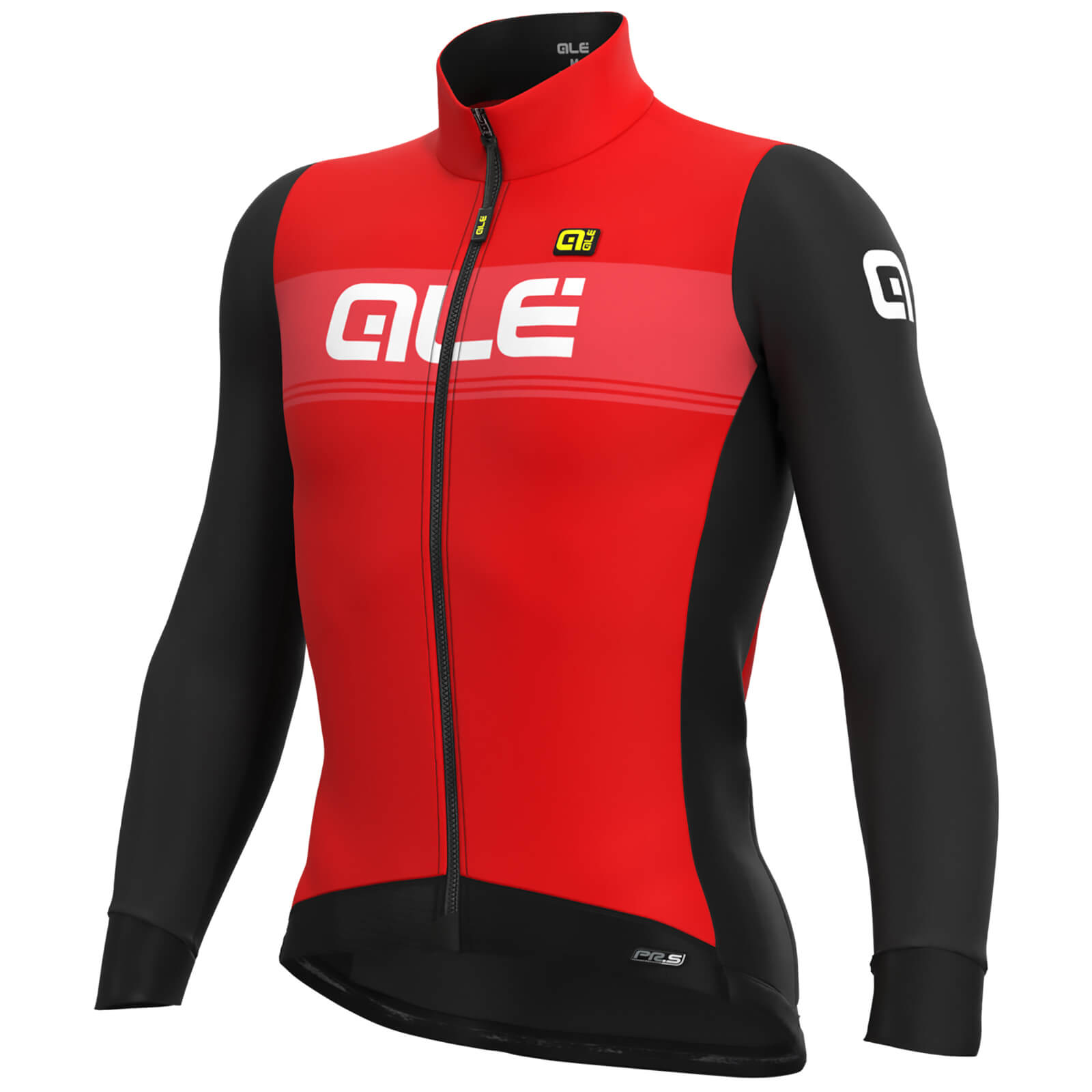 Alé Pr-S Logo Dwr Long Sleeve Jersey - S - Rot/Schwarz