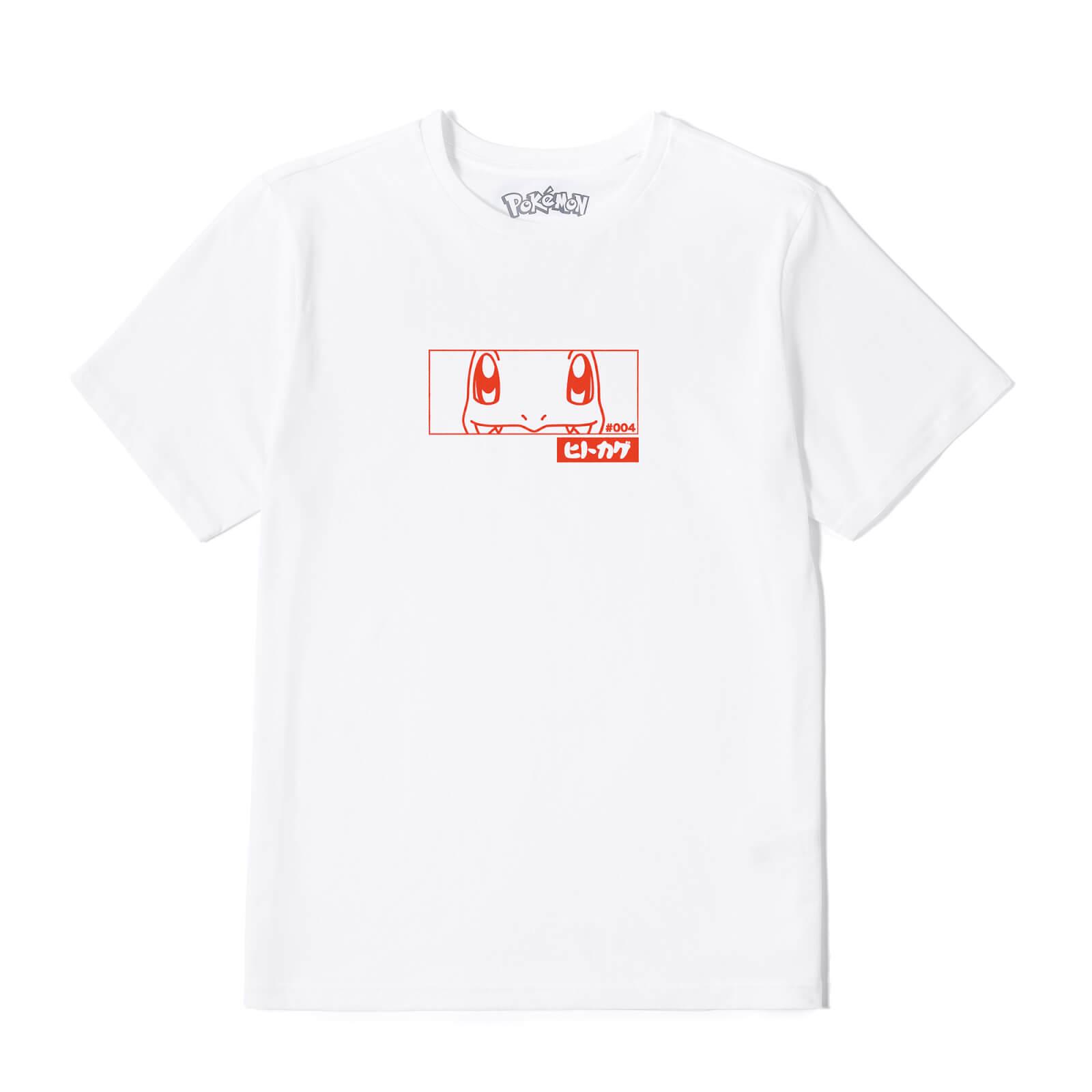 Pokémon Charmander Evolution Unisex T-Shirt - Wit - XL - Wit