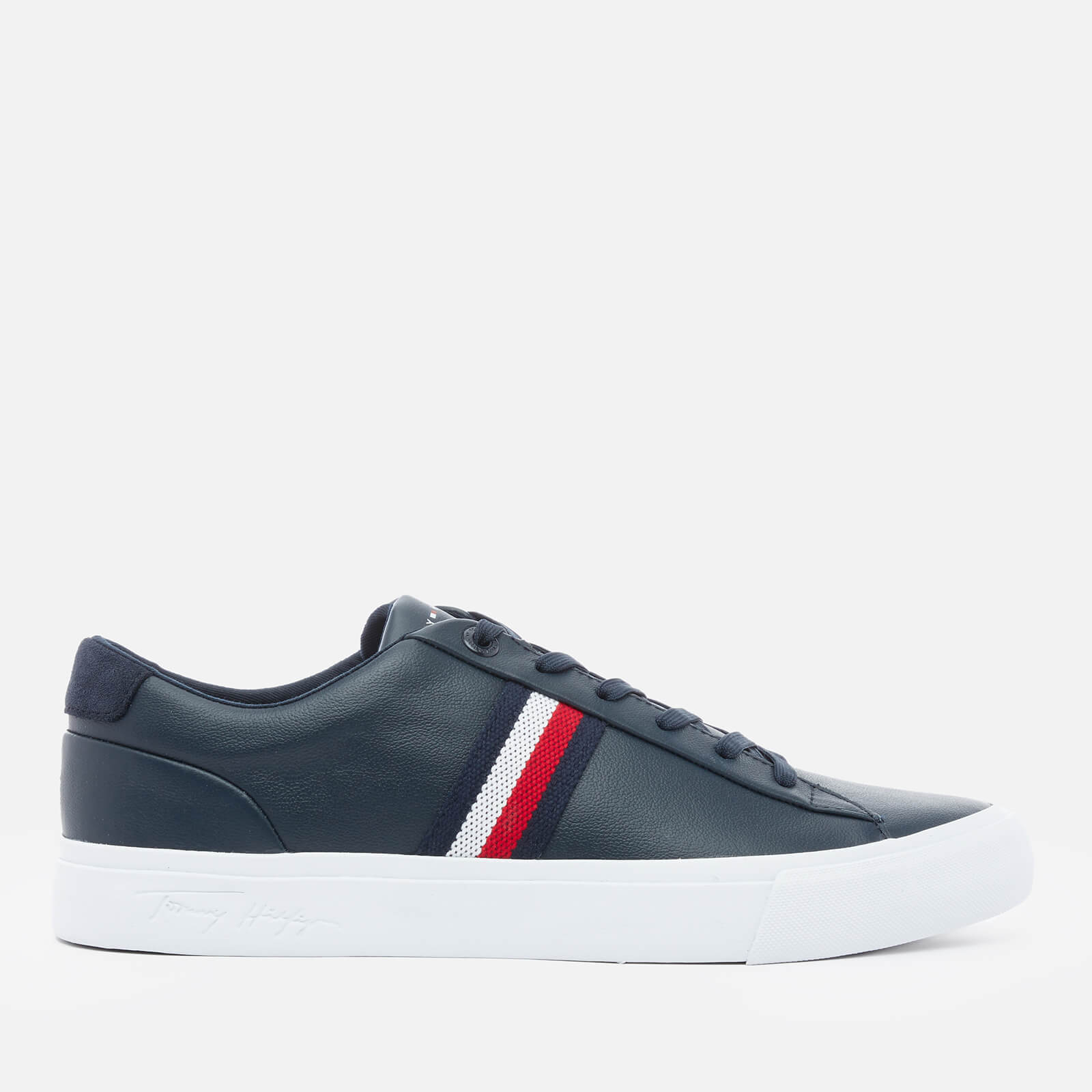 Tommy Hilfiger Men's Corporate Leather Low Top Trainers - Desert Sky - UK 10