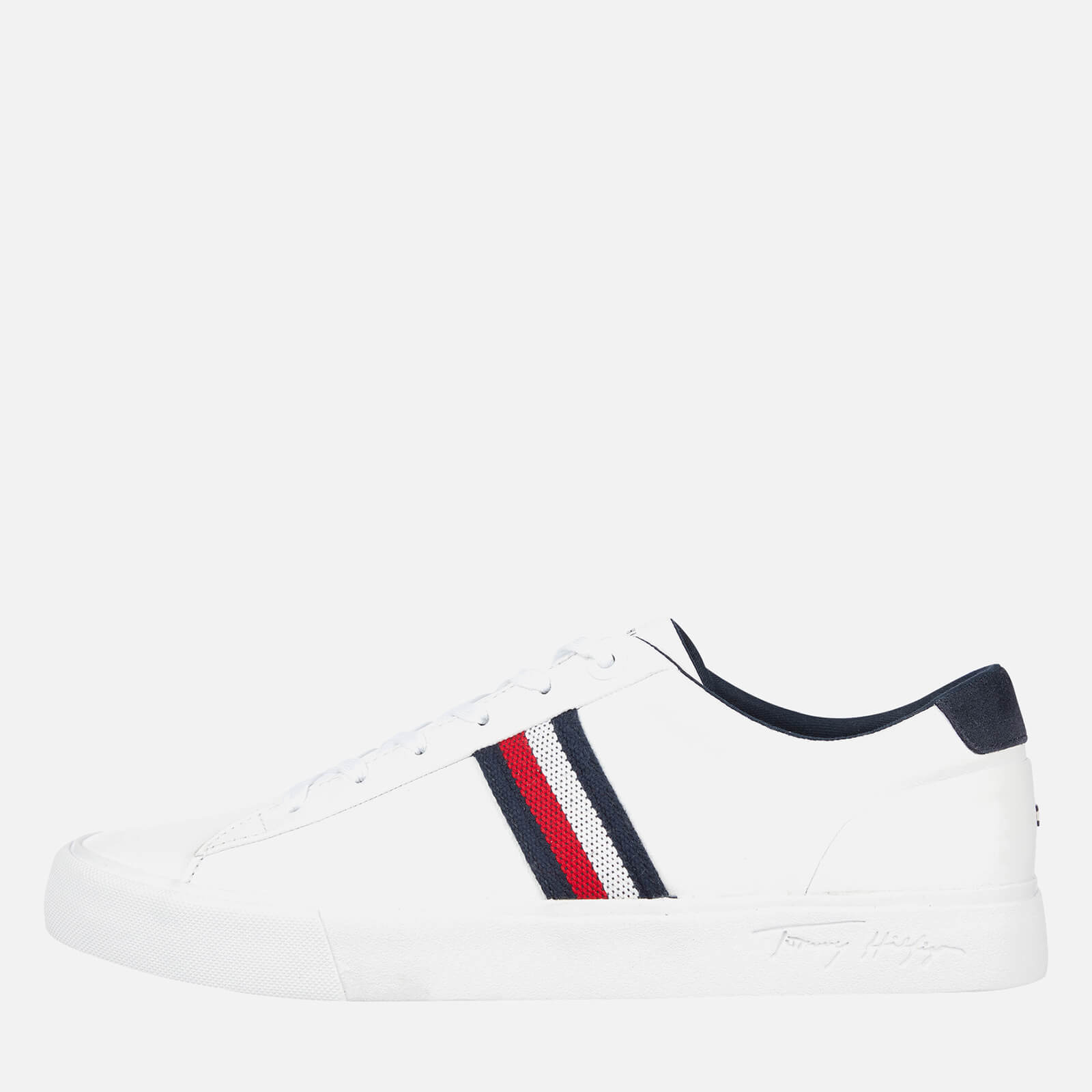Tommy Hilfiger Men's Corporate Leather Low Top Trainers - White - UK 7
