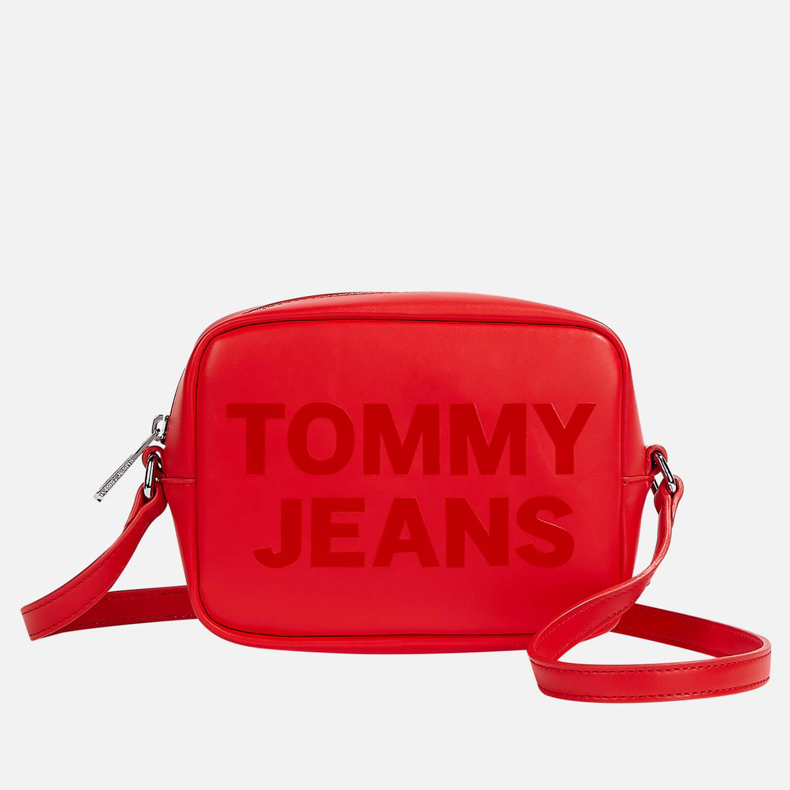 tommy jeans women's camera bag - deep crimson
