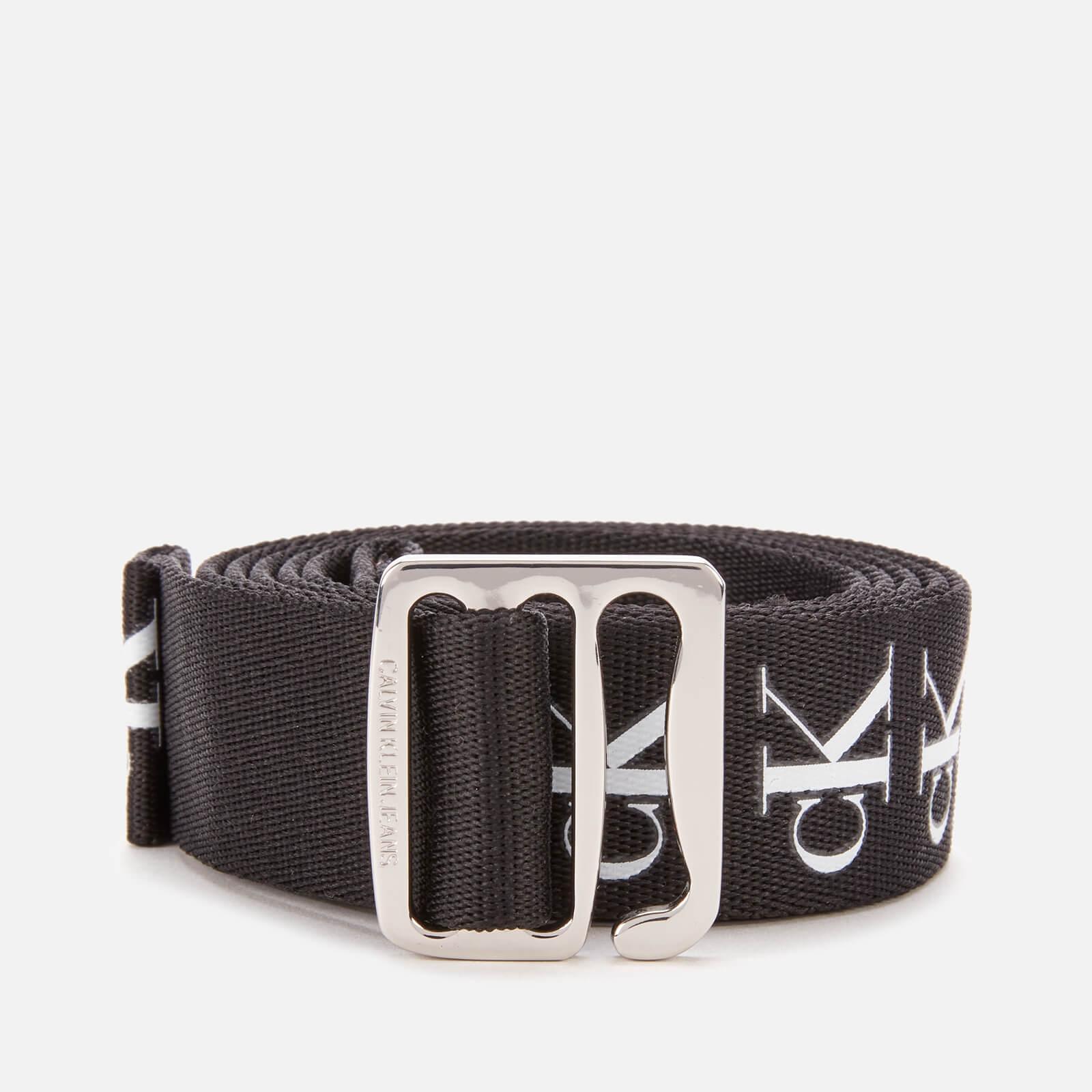 Calvin Klein Jeans Women's Slider Tape Belt 30mm - Black - 90cm