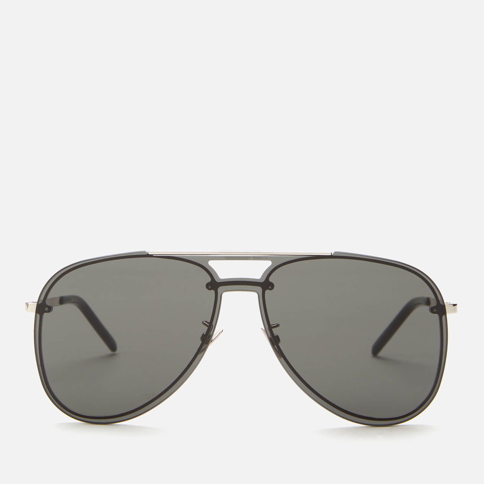 Saint Laurent Men's Classic 11 Mask Aviator Sunglasses - Silver/Grey