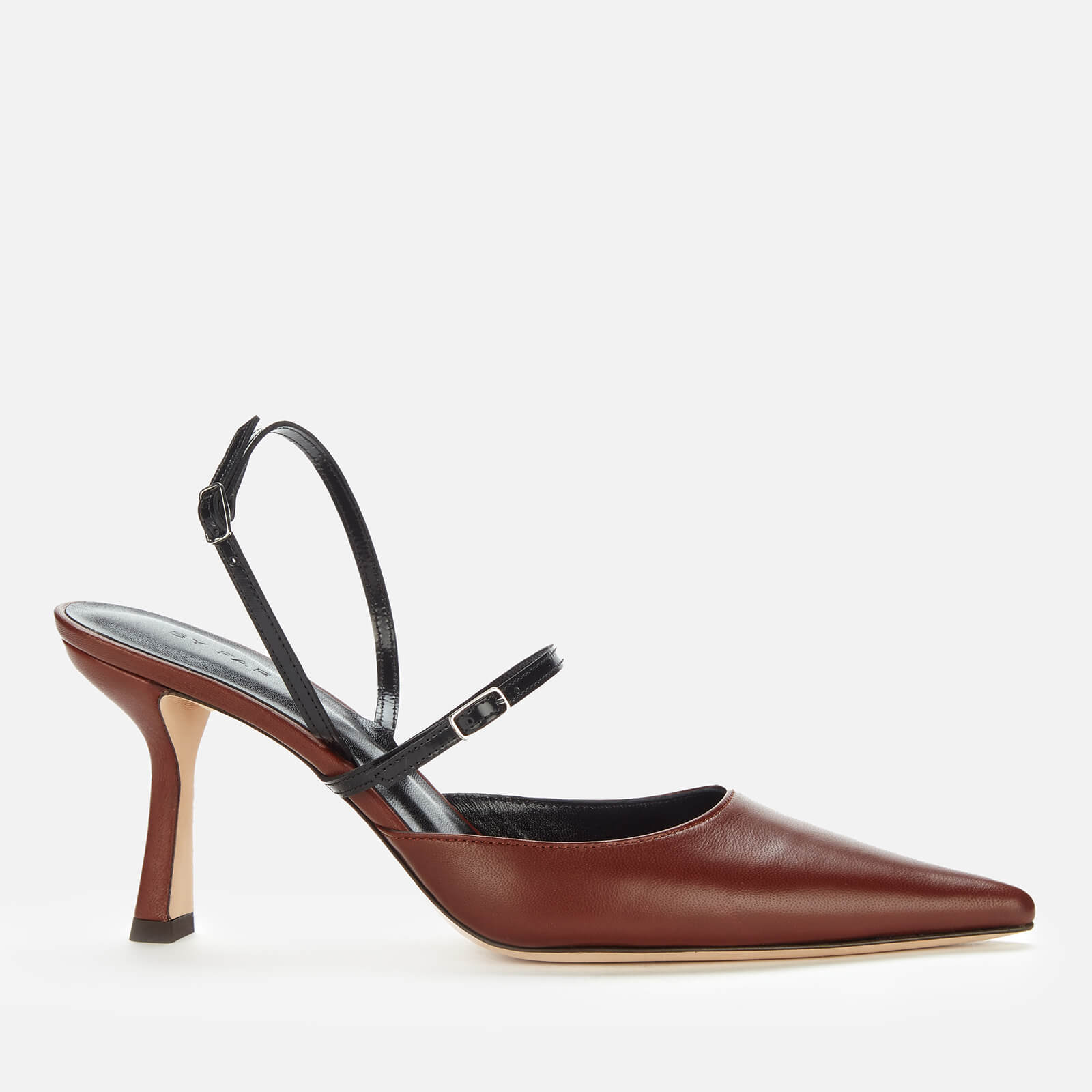 By Far Women's Tiffany Leather Court Shoes - Dark Brown - Uk 3