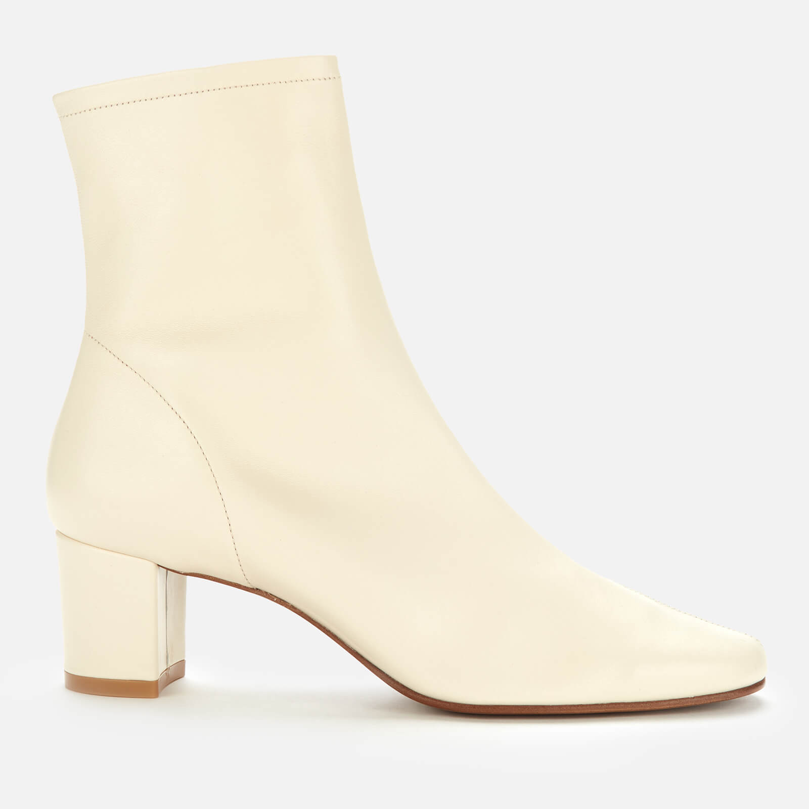 By Far Women's Sofia Leather Heeled Ankle Boots - White - Uk 5