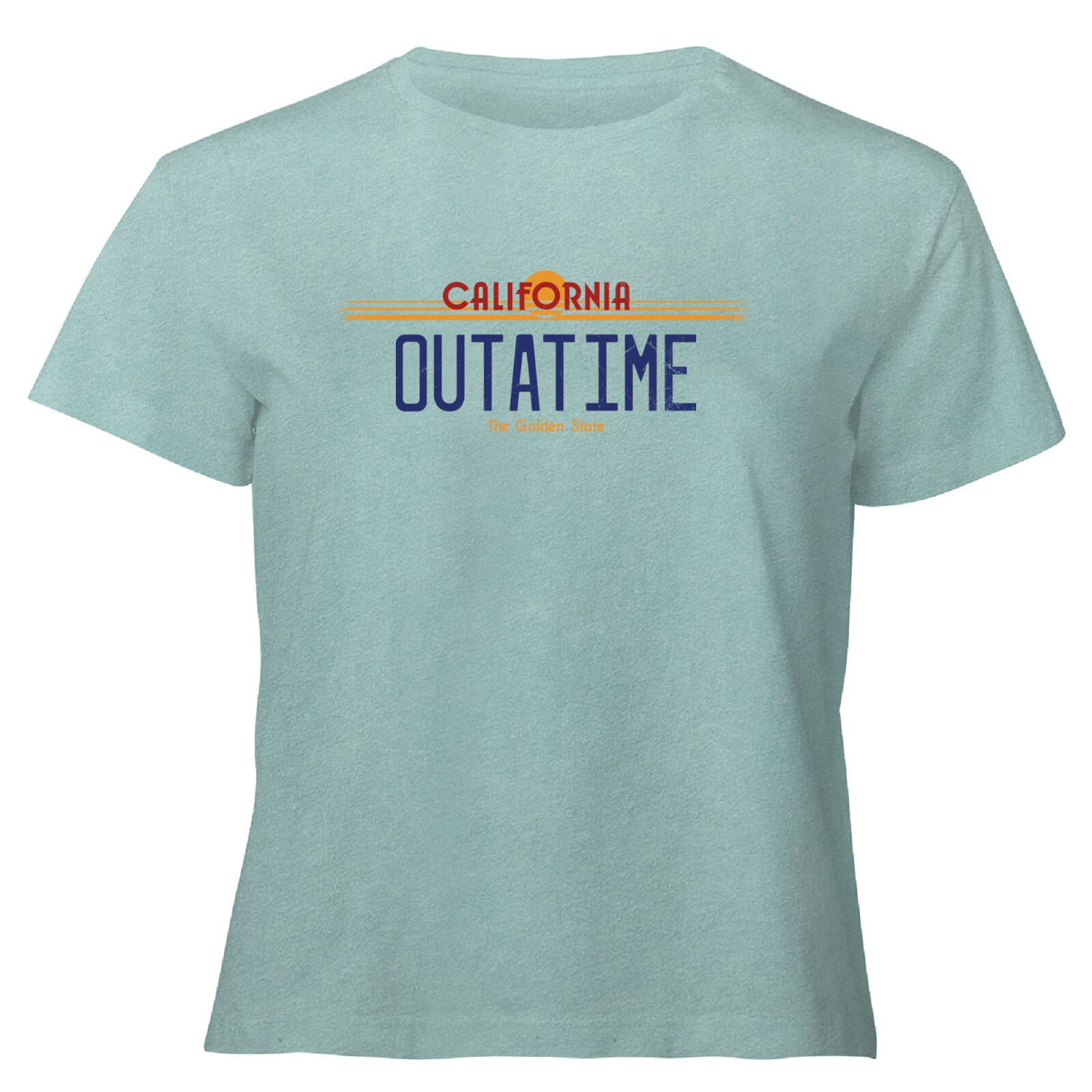 Back To The Future Outatime Plate - Women's Cropped T-Shirt - Mint Acid Wash - XS - Mint Acid Wash