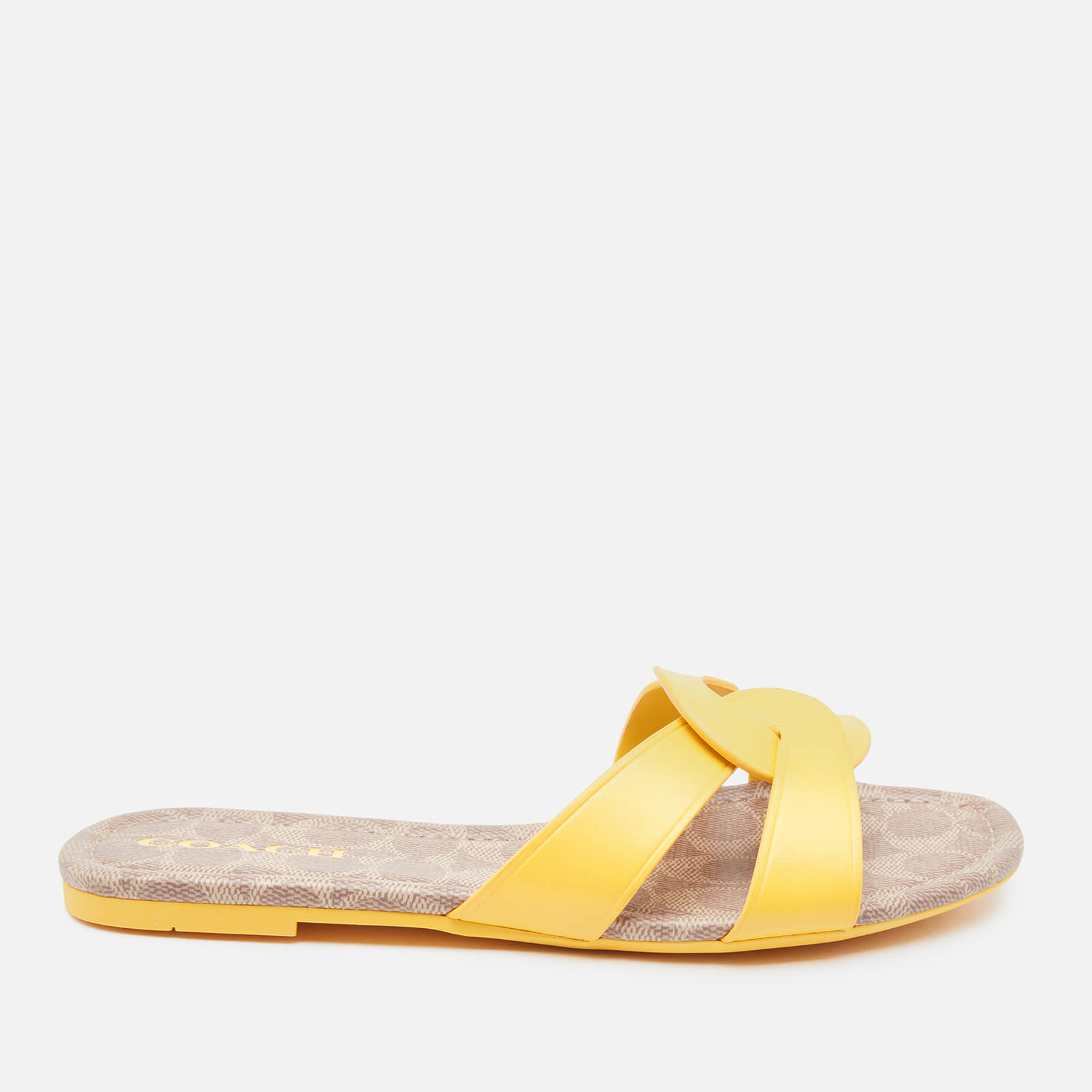 Coach Women's Essie Leather Sandals - Bright Yellow - Uk 3