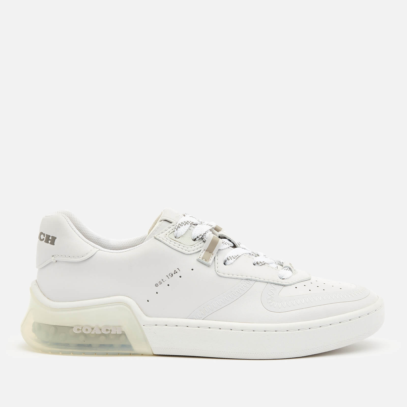 Coach Women's Citysole Suede/Leather Court Trainers - Optic White - UK 8