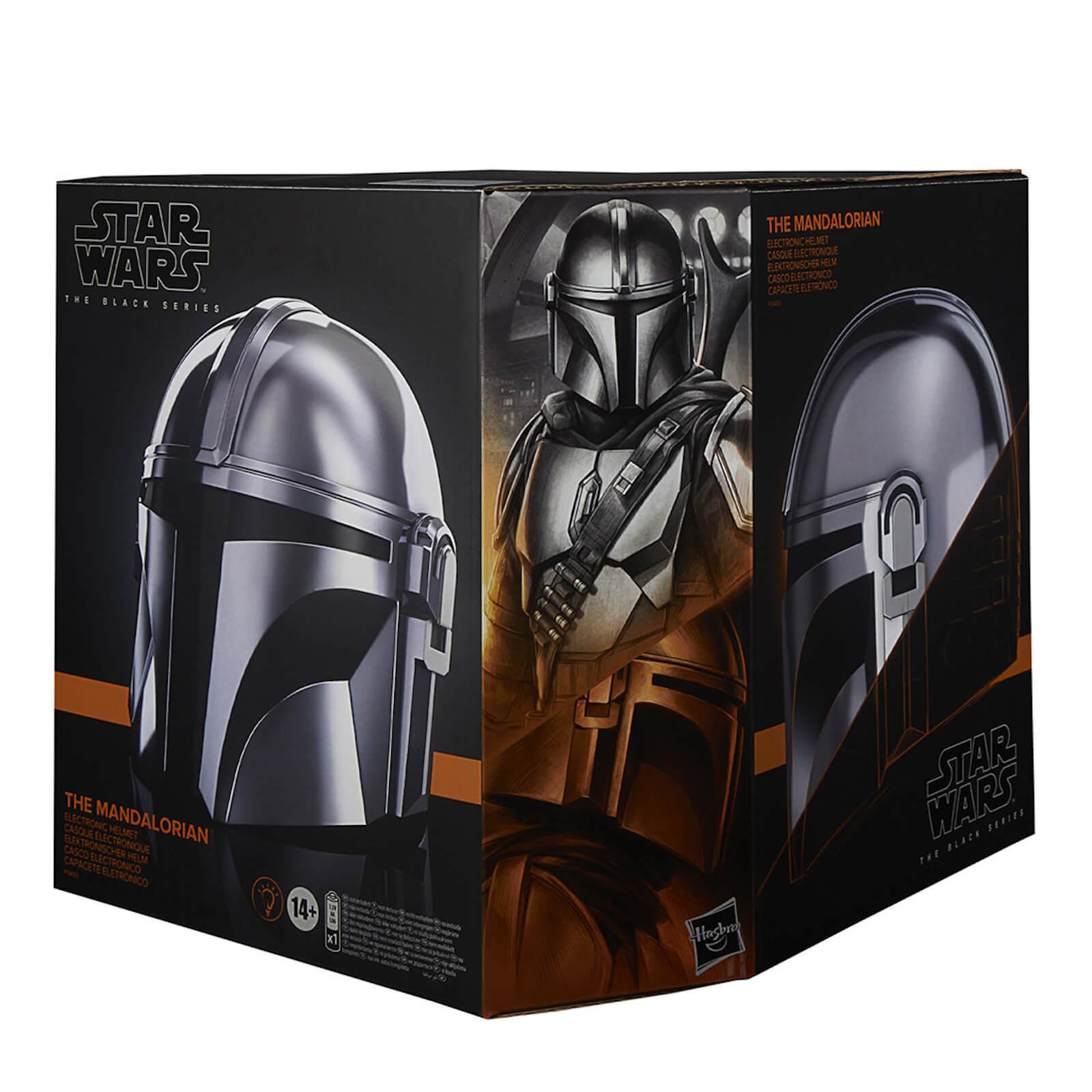 Image of Hasbro Star Wars The Black Series The Mandalorian Electronic Helmet