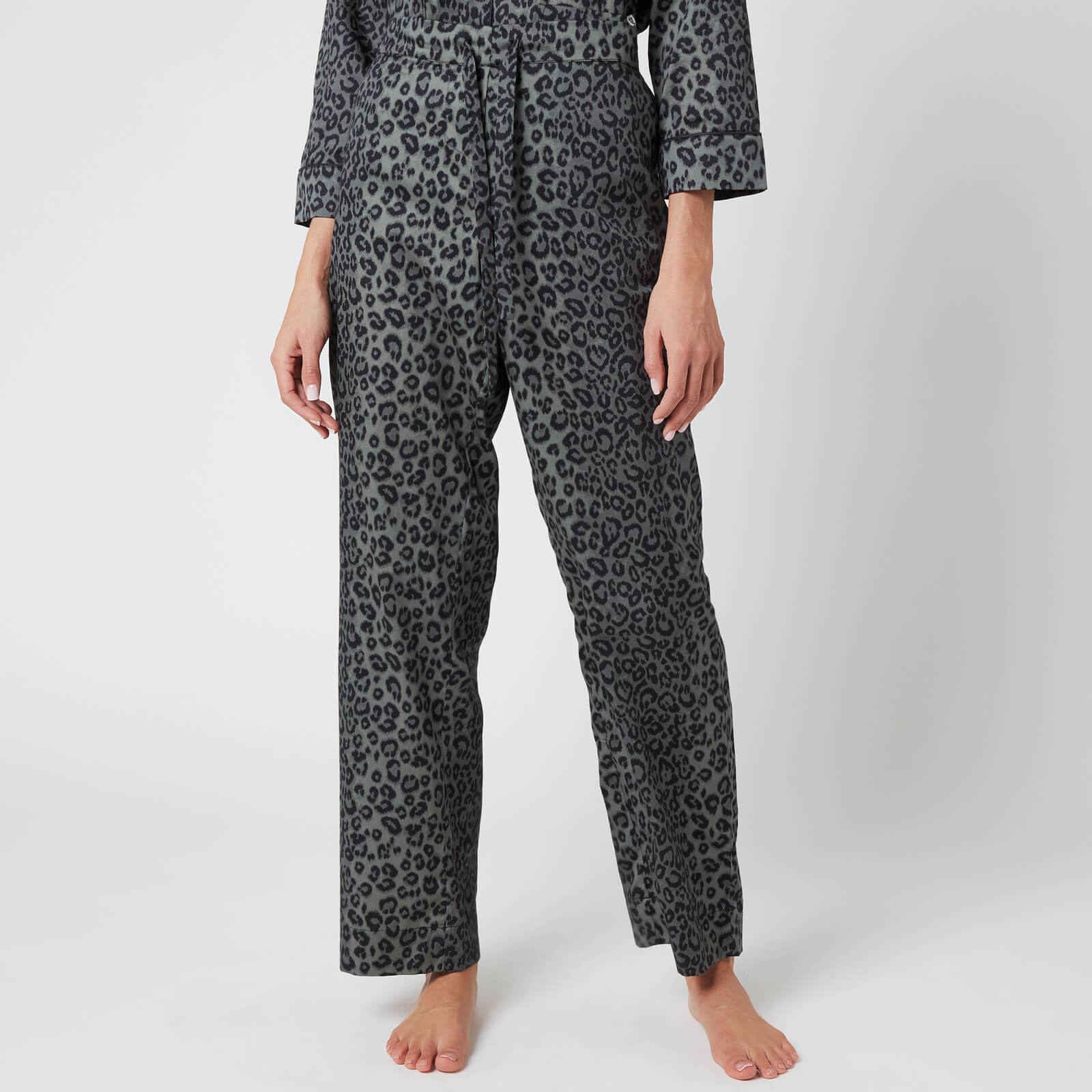 Les Girls Les Boys Women's Girls PJ Bottoms - Grey Leopard - XS