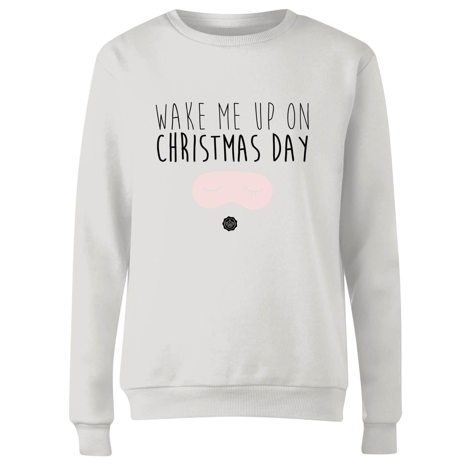 Glossy Box coupon: GLOSSYBOX Wake Me Up On Christmas Day Women's Christmas Jumper - White - XS