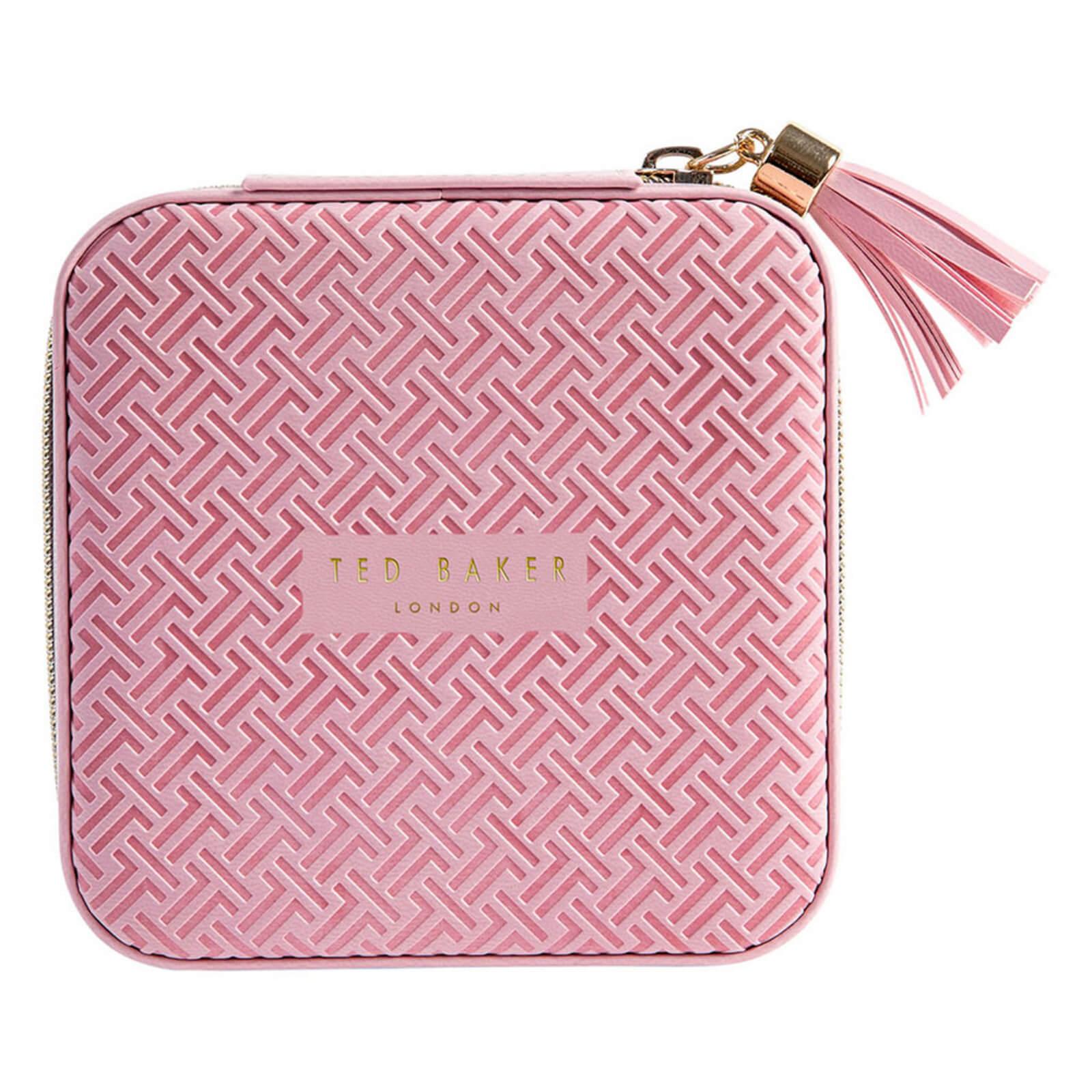 ted baker women's zipped jewellery case - dusky pink