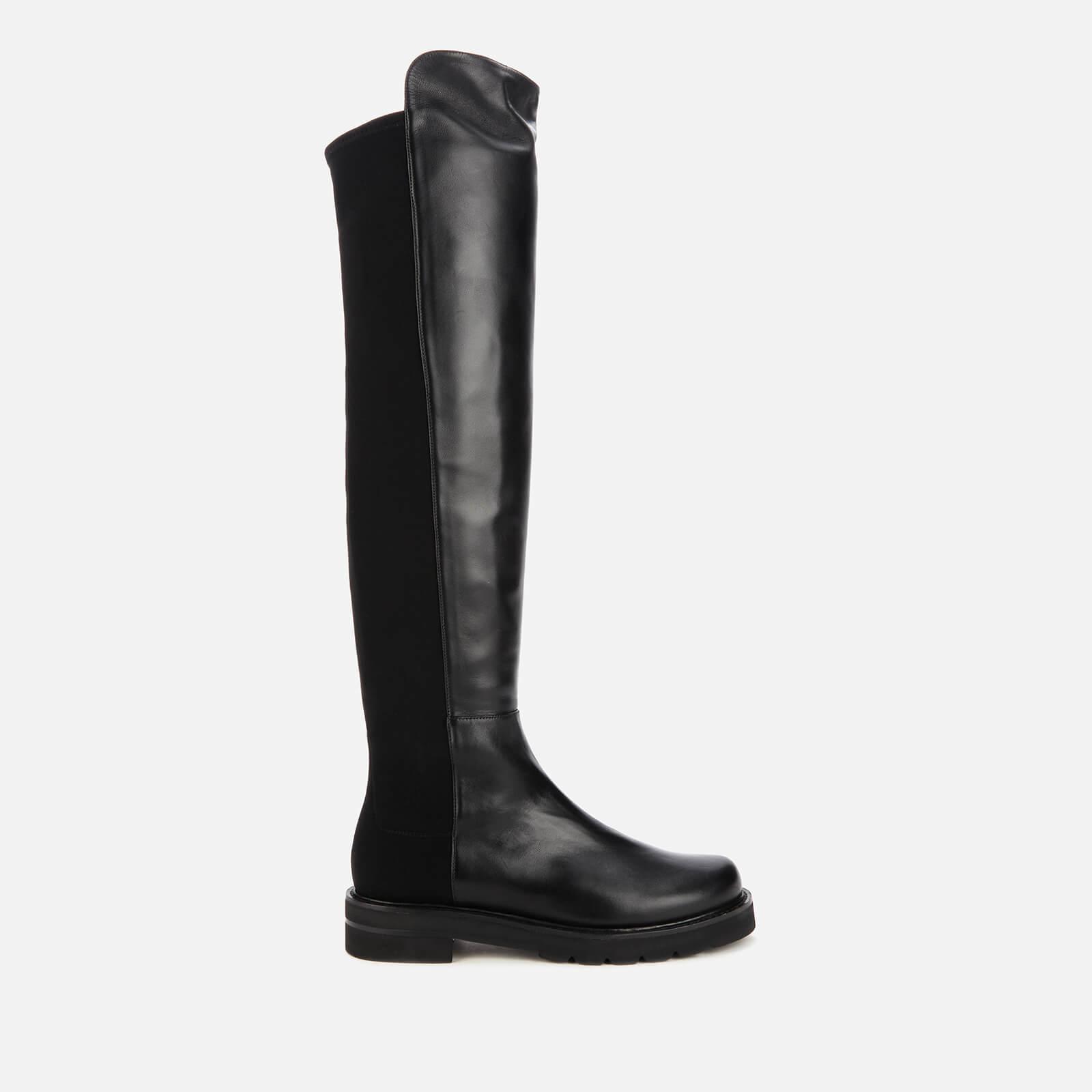 Stuart Weitzman Women's 5050 Lift Leather Over The Knee Boots - Black - Uk 6